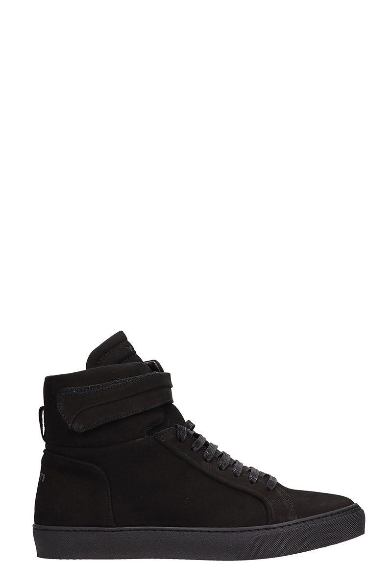 Ylati Footwear Amalfi High Black High Suede Sneakers