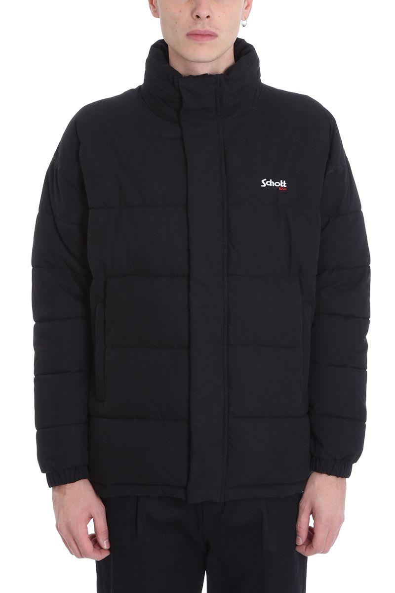 Schott Black Nylon Nebraska Down Jacket
