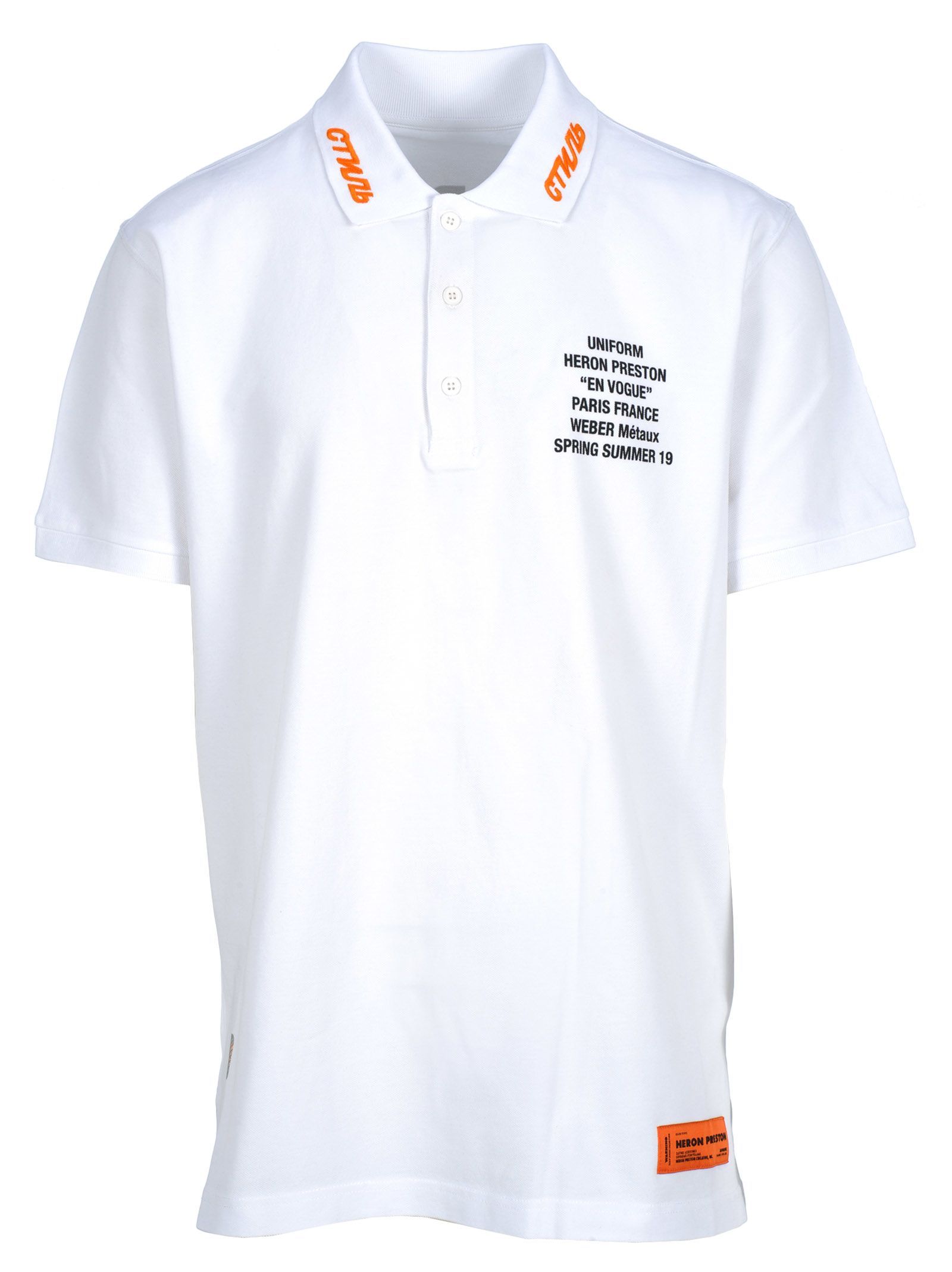 Heron Preston T-shirts HERON PRESTON HERON PRESTON GRAPHIC PRINT POLO SHIRT