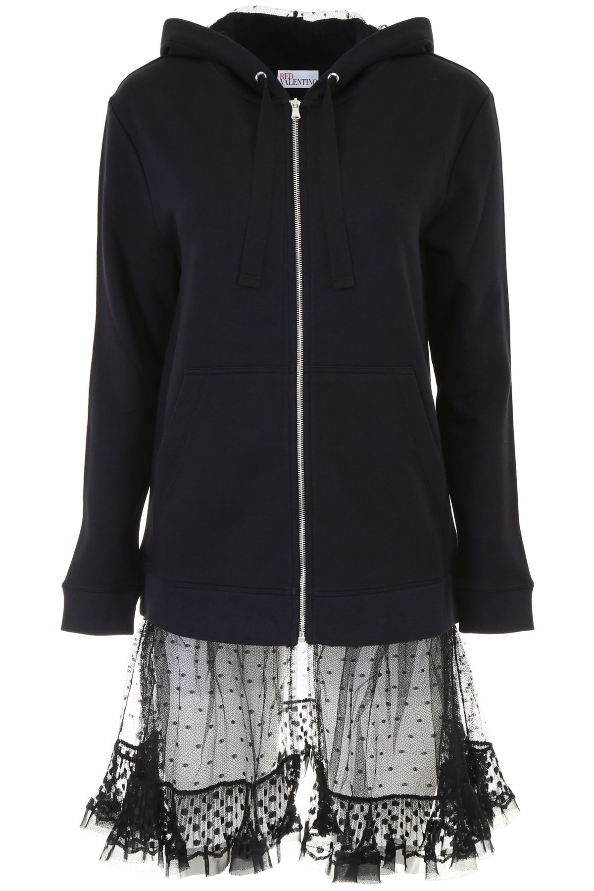RED Valentino Hoodie With Plumetis Ruffle