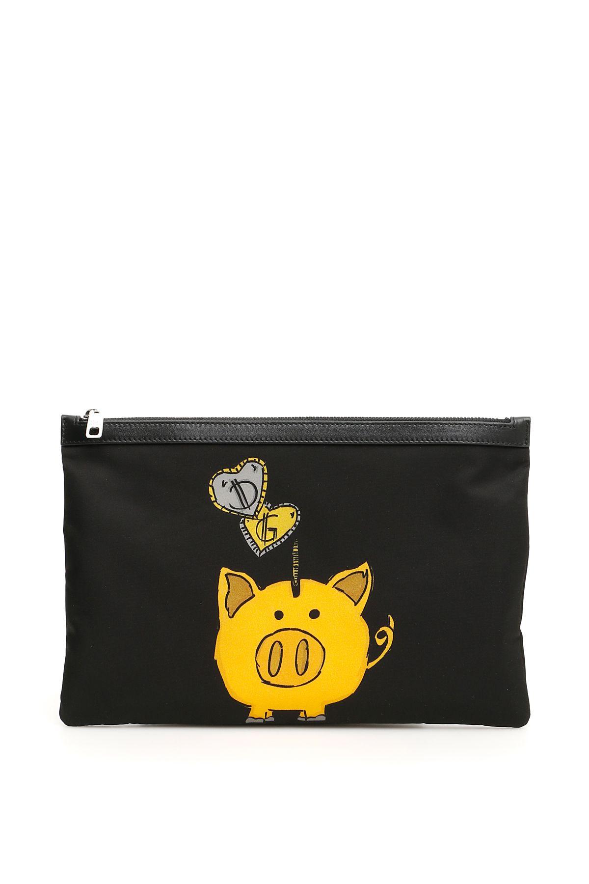 Dolce & Gabbana Piggy Bank Flat Pouch