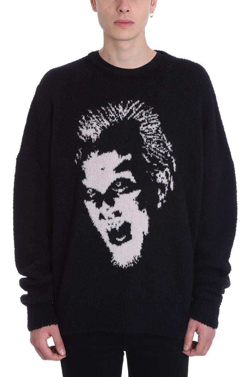 AMIRI Black Wool Sweater