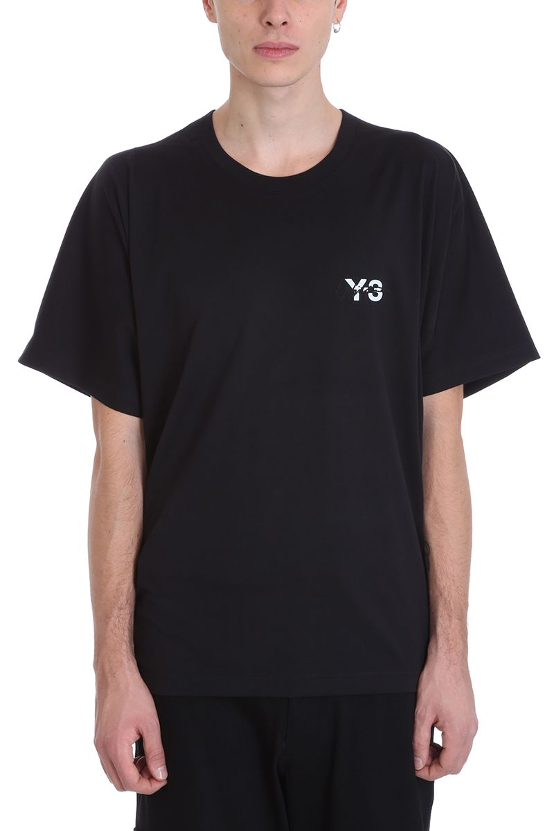 Y-3 Signature Black Cotton T-shirt