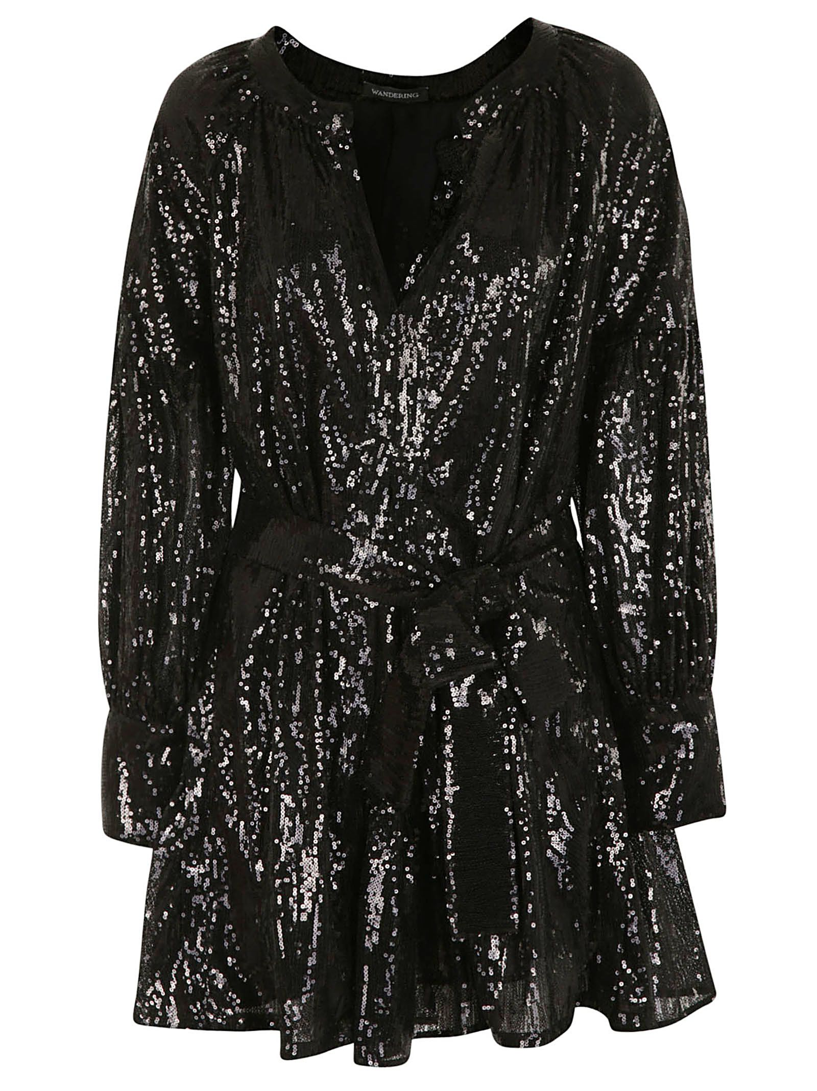 Wandering Sequined Mini Dress