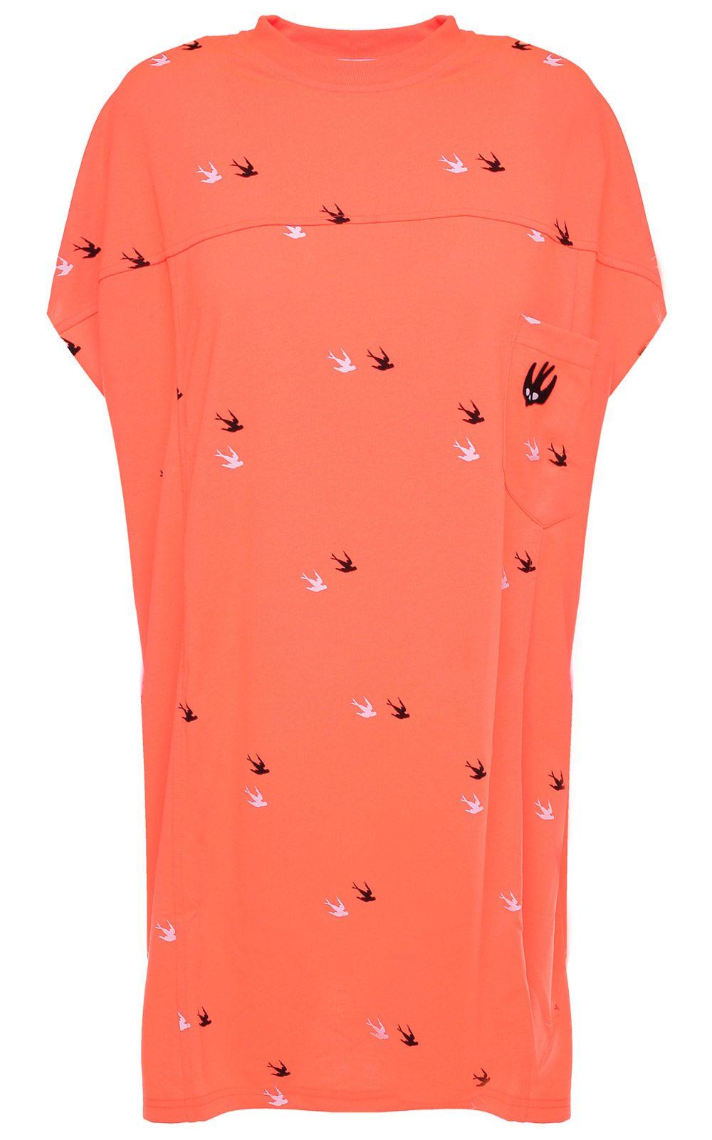 McQ Alexander McQueen Deco Swallow Cotton-jersey T-shirt Dress