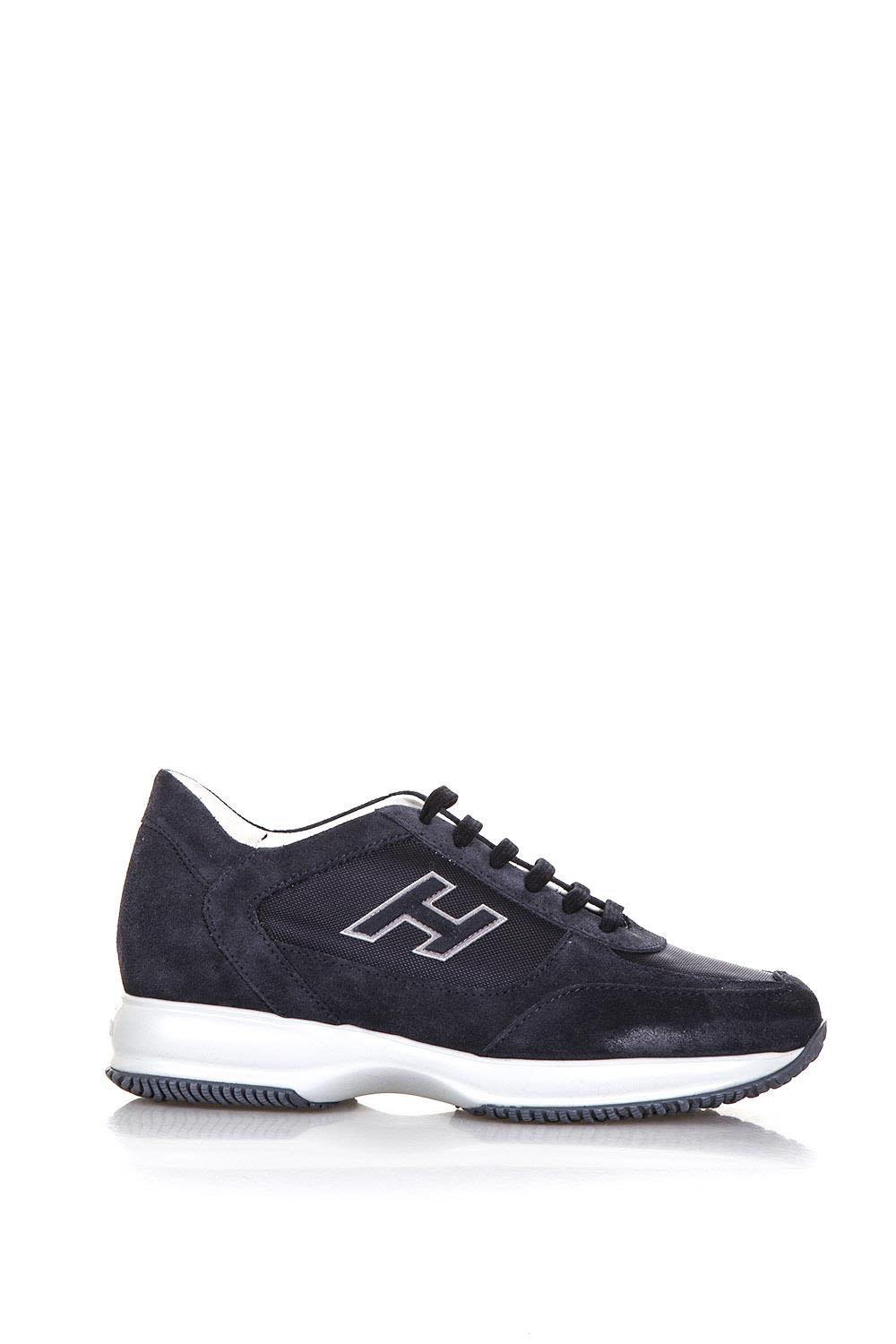 Hogan Interactive Night Blue Suede Sneakers