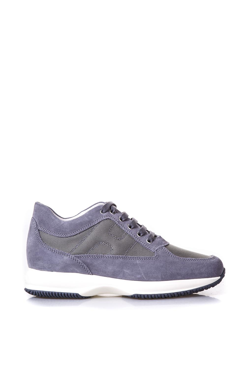 Hogan Interactive Gray Suede & Nylon Sneakers