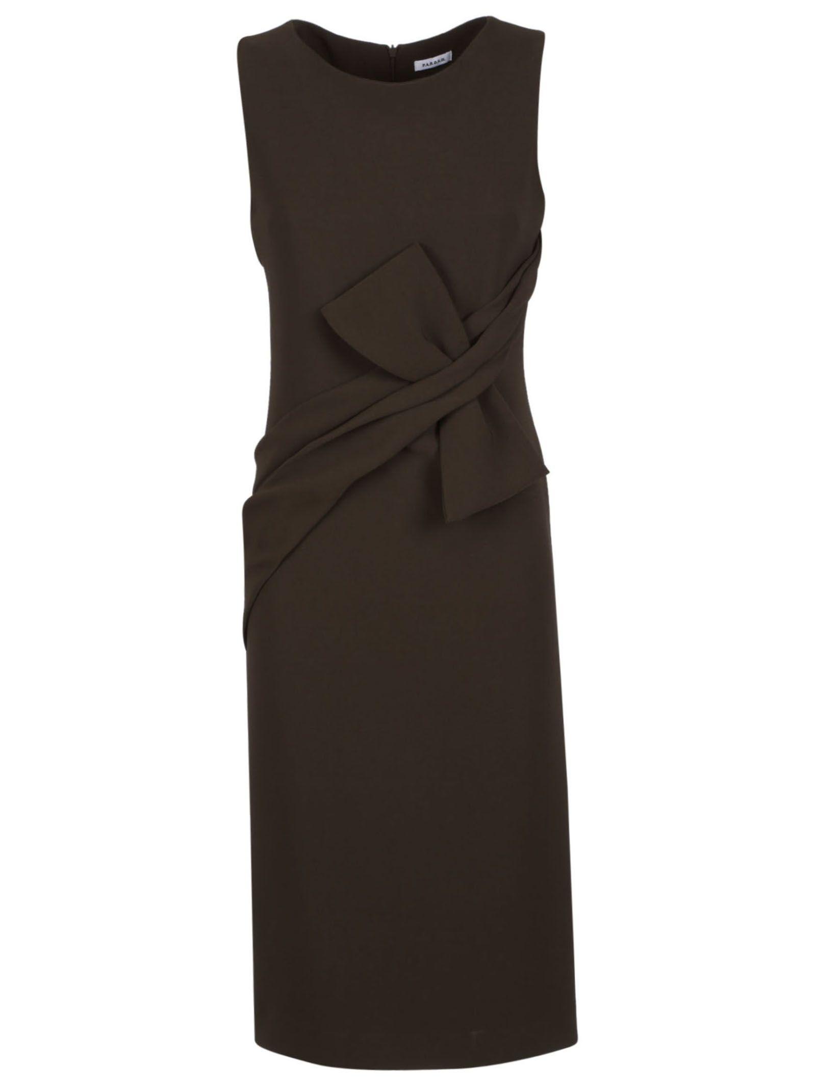 Parosh Sleeveless Fitted Midi Dress