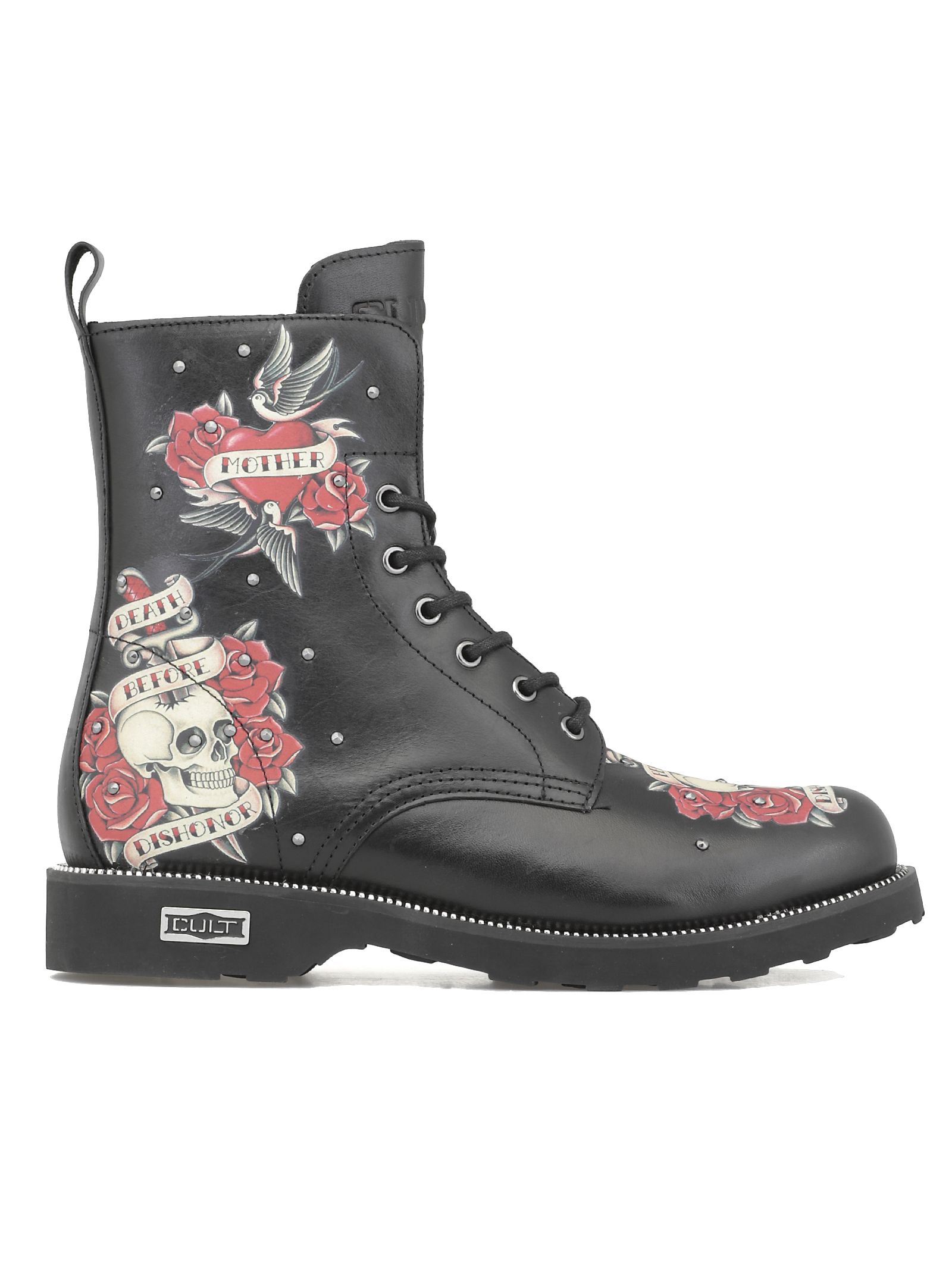 CULT Zeppelin Mid 2712 Army Boots in Black
