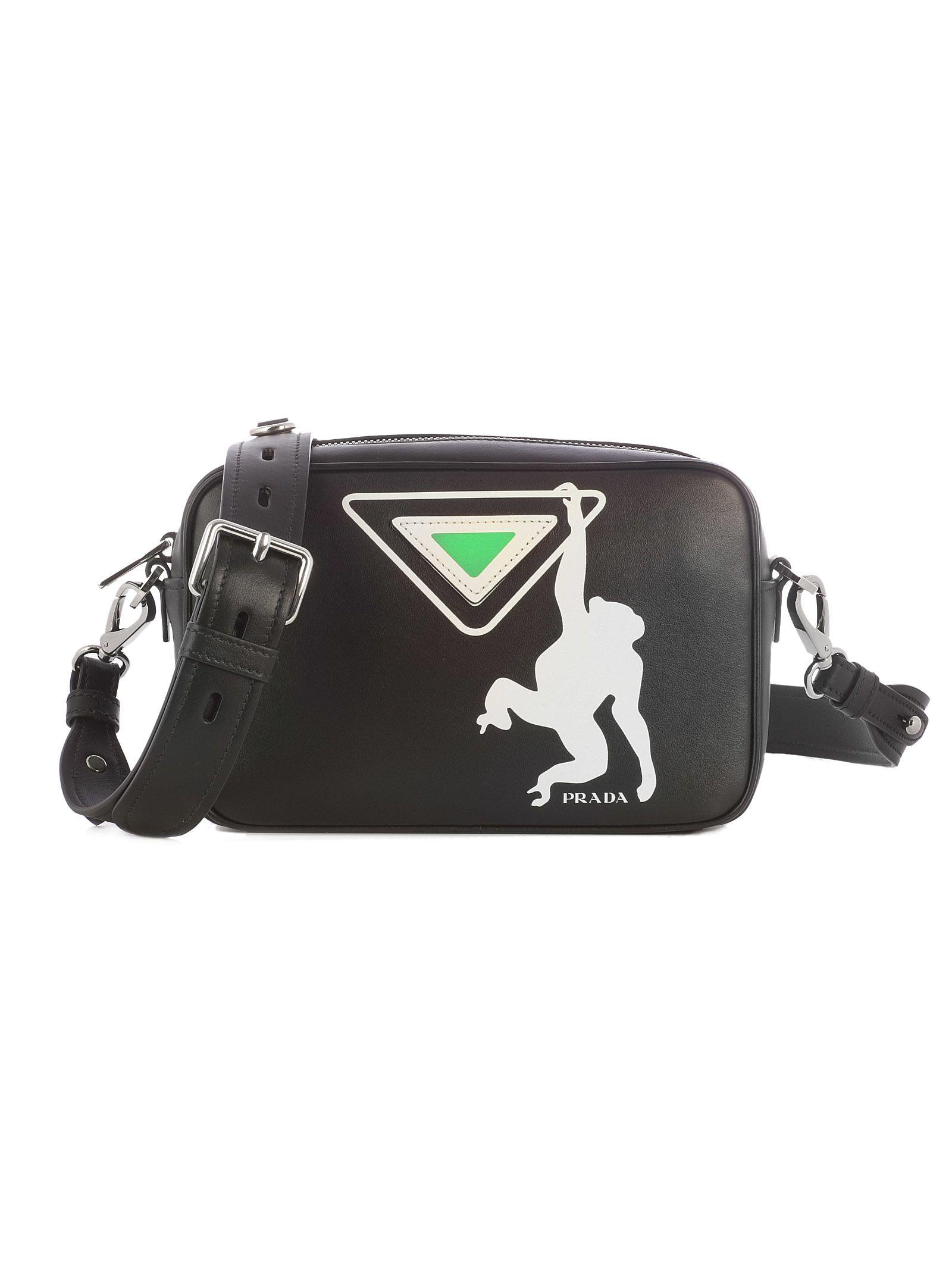 Prada Monkey Print Camera Shoulder Bag