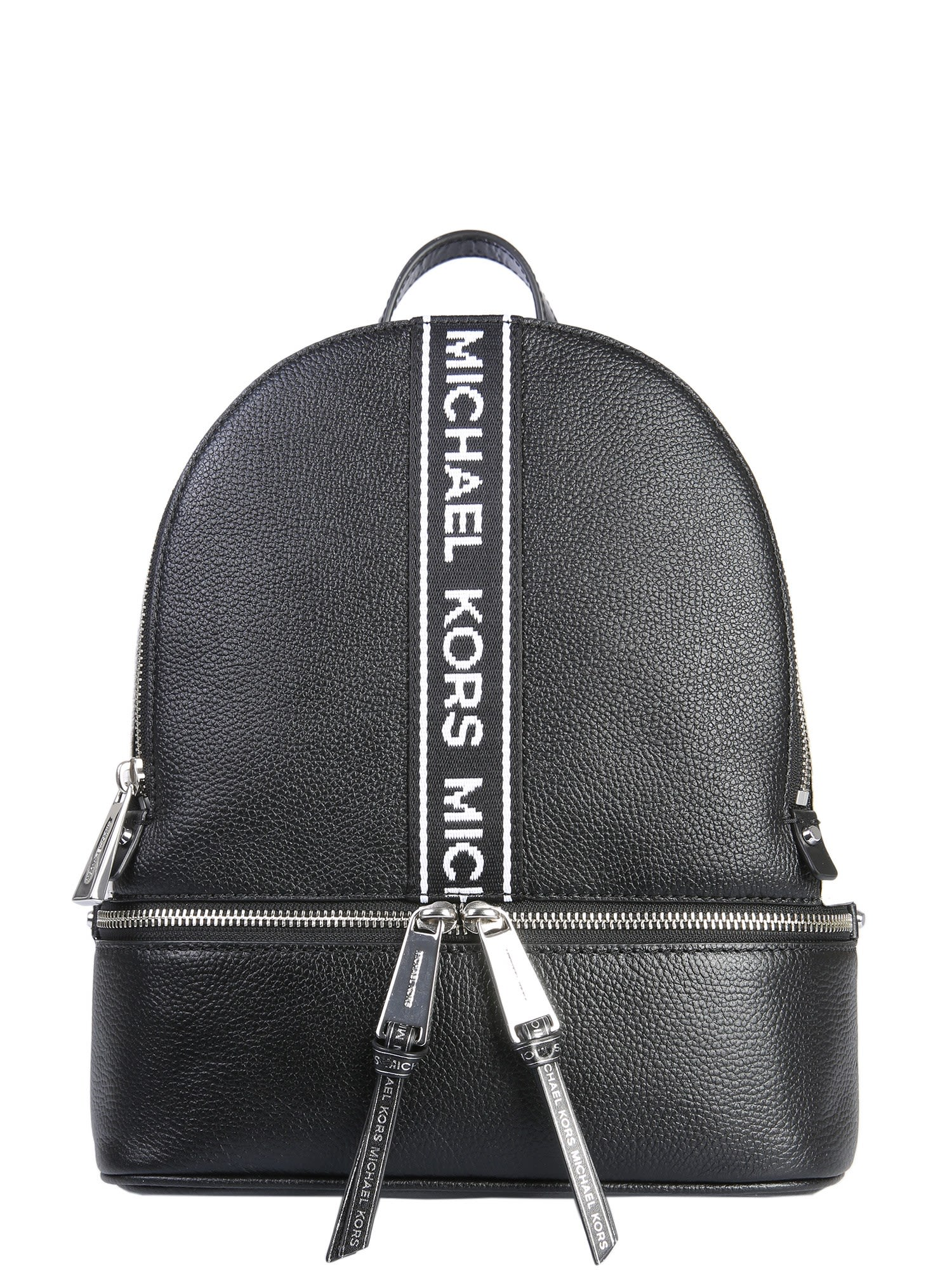 8824c99b235d denmark michael michael kors medium rhea leather backpack black in black  optic white 8635a a4ac7