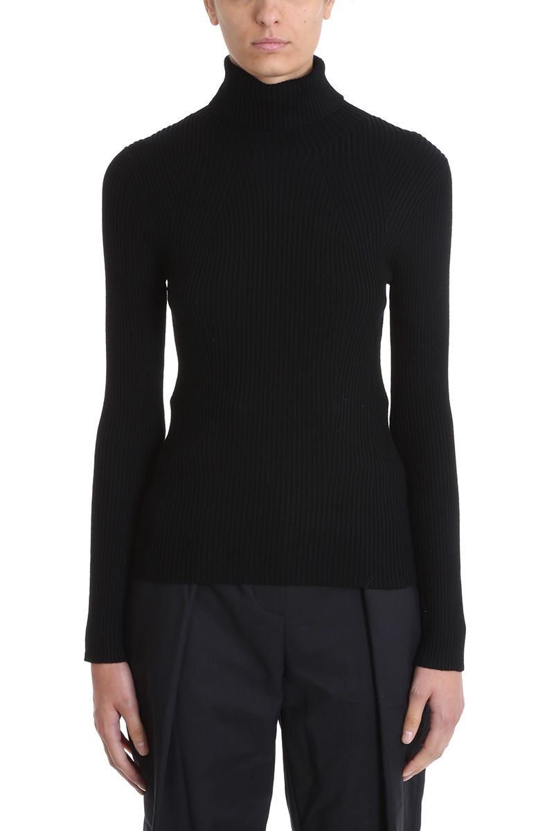 3.1 phillip lim -  Ribbed Black Wool Sweater