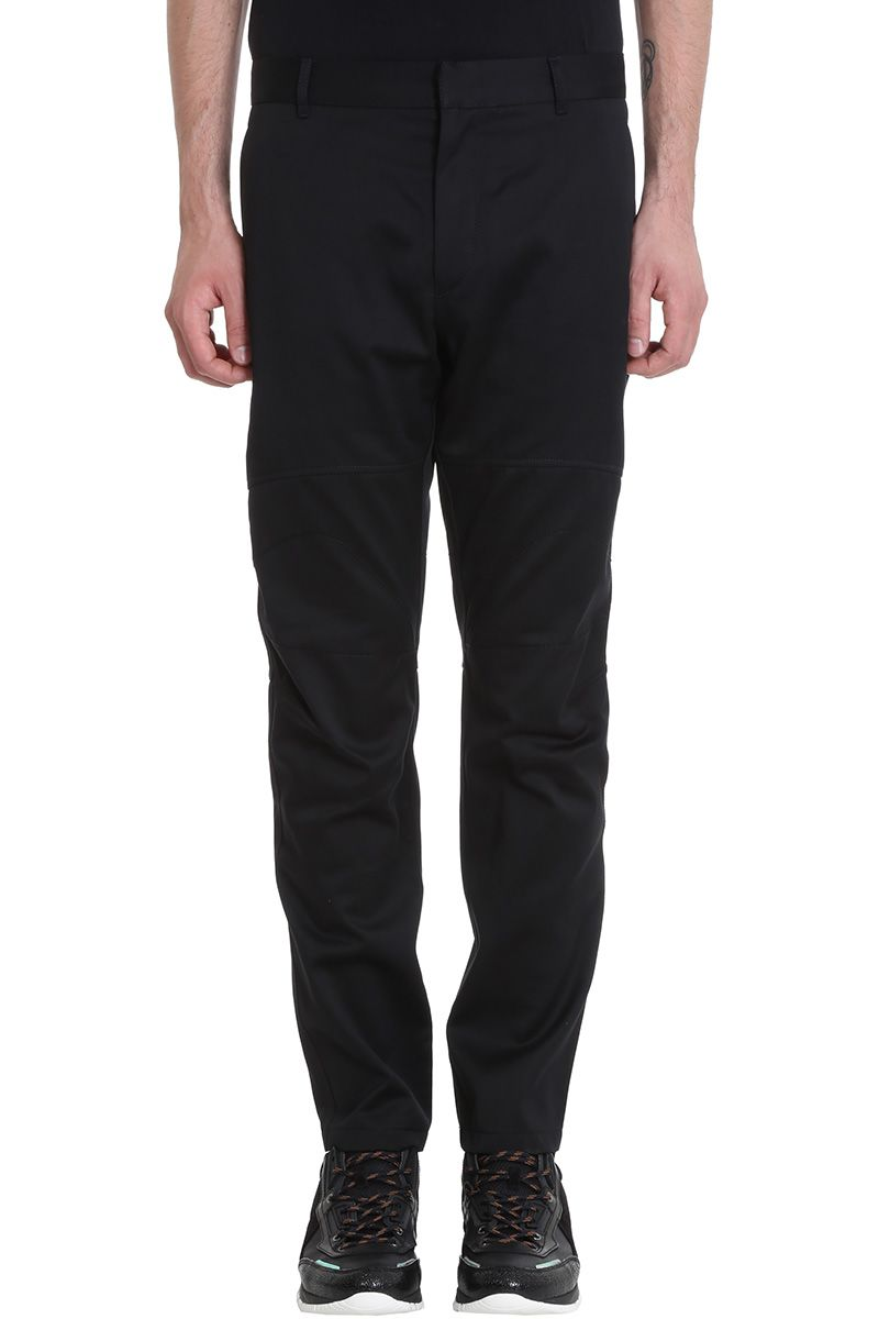 Lanvin Black Cotton Biker Pants