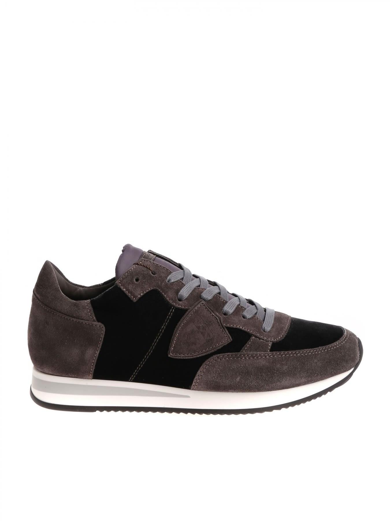 Sneaker Tropez Suede And Velvet