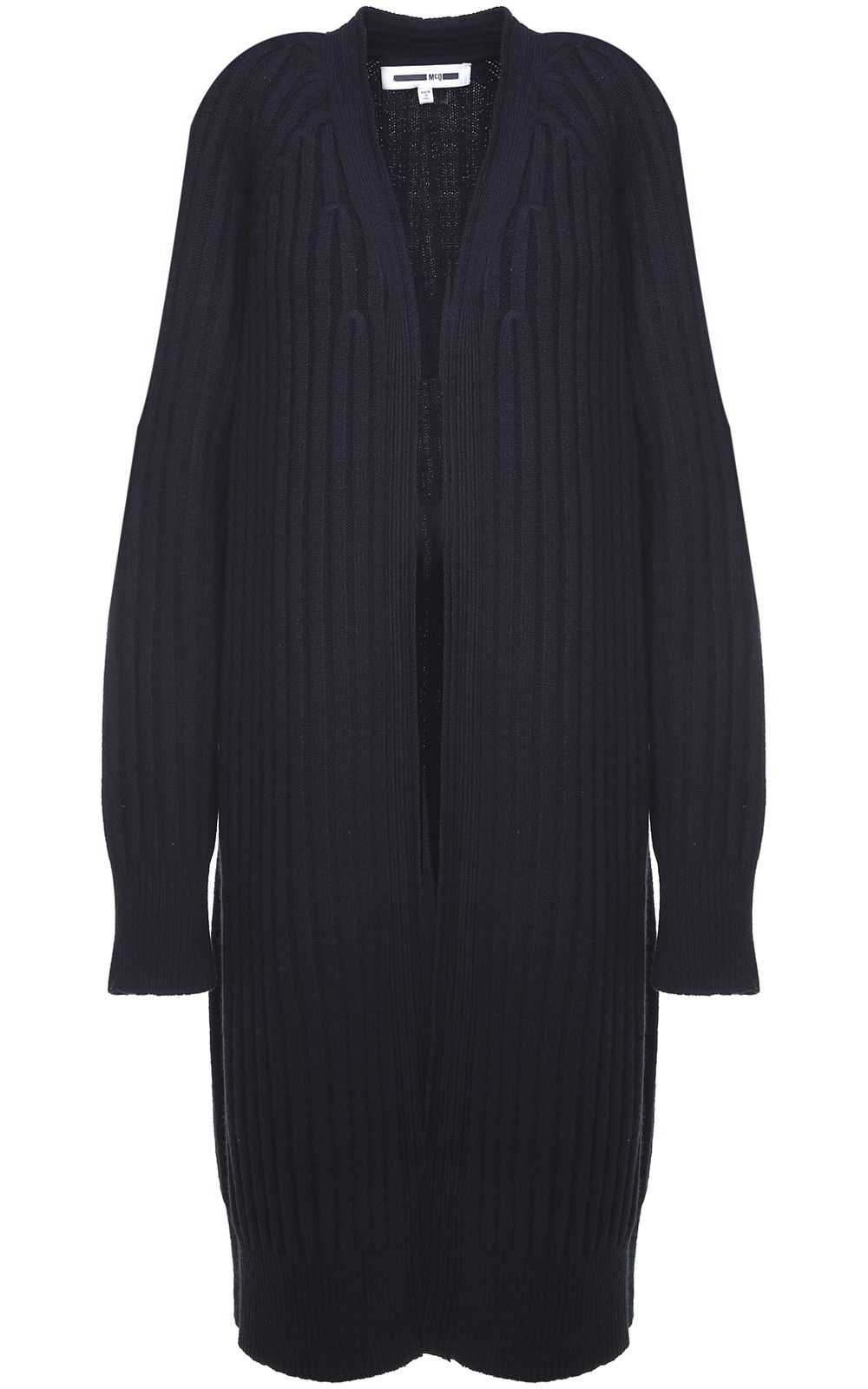 McQ Alexander McQueen Ribbed Wool And Cotton-blend Cardigan