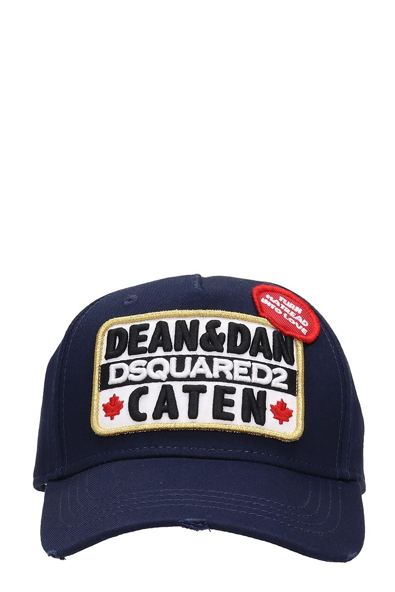 Dsquared2 Blue Cotton Hat