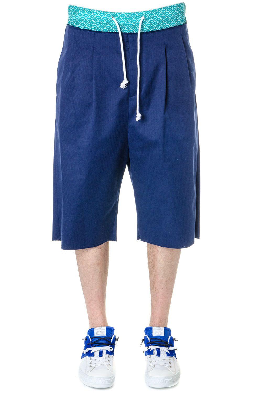 Maison Margiela Royal Blue Cotton Shorts