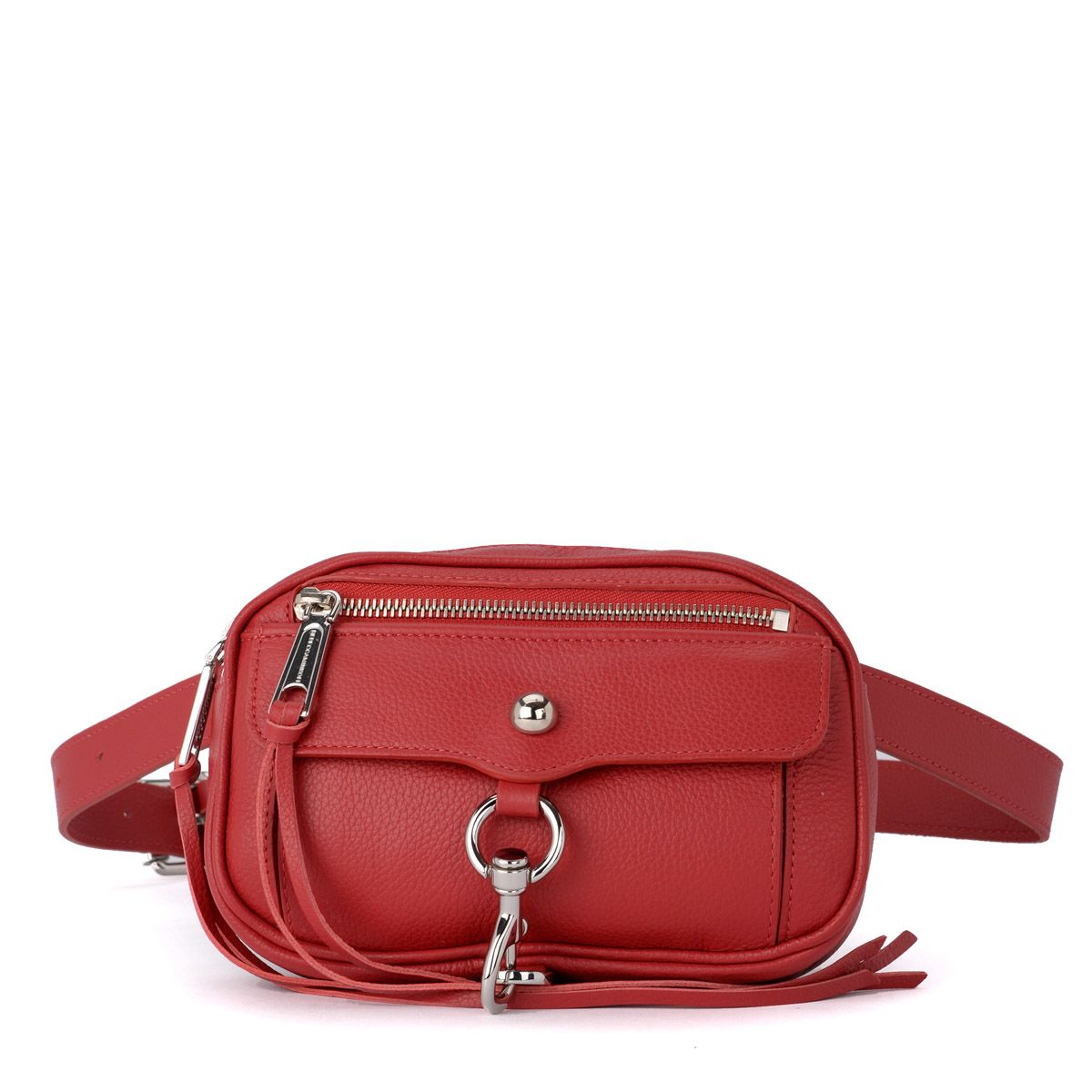Rebecca Minkoff Blythe Red Leather Pouch