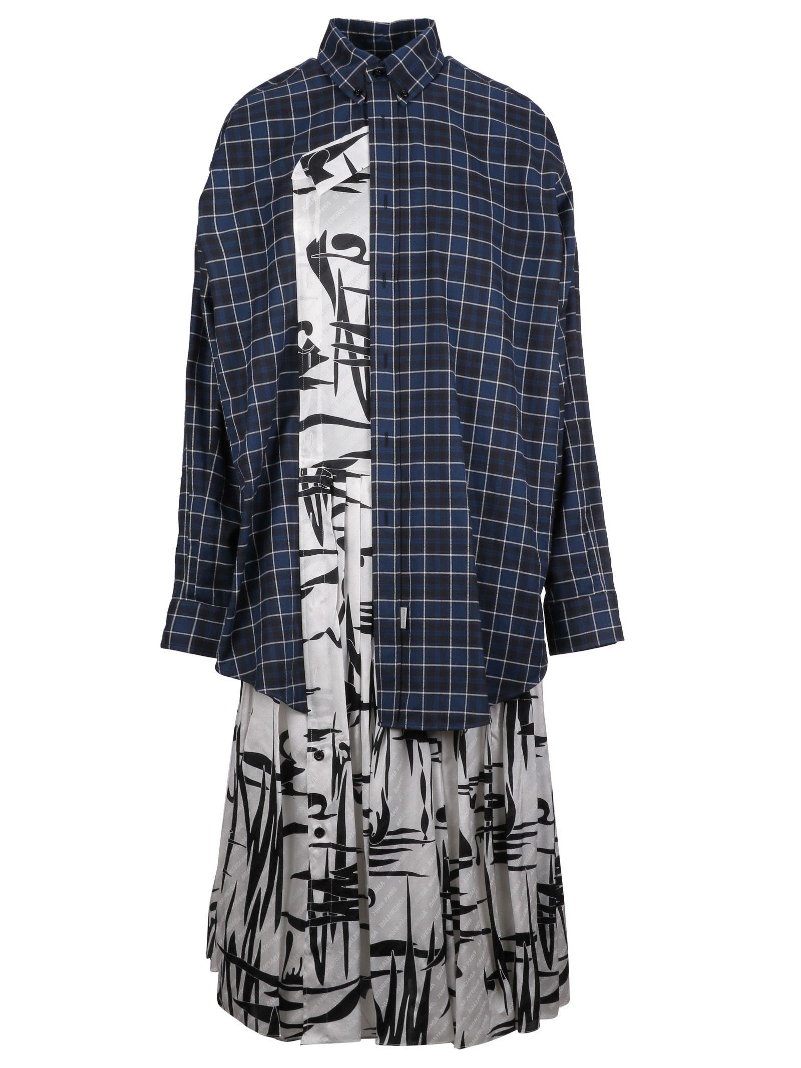 balenciaga -  Layered Shirt Dress
