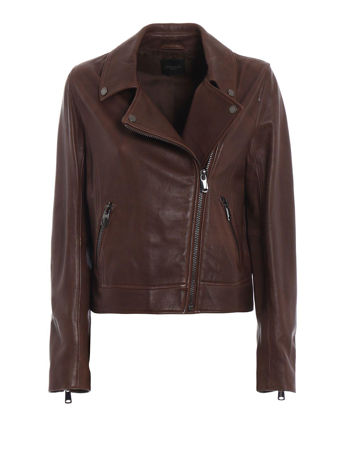 max mara -  Zucca Precious Lambskin Asymmetrical Jacket