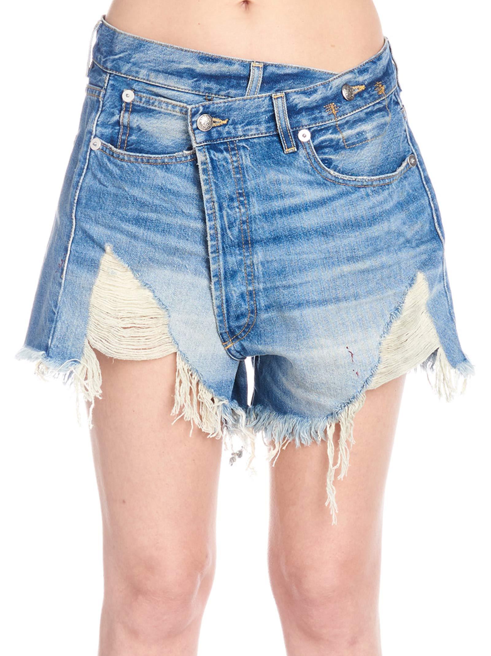 R13 'crossover' Shorts