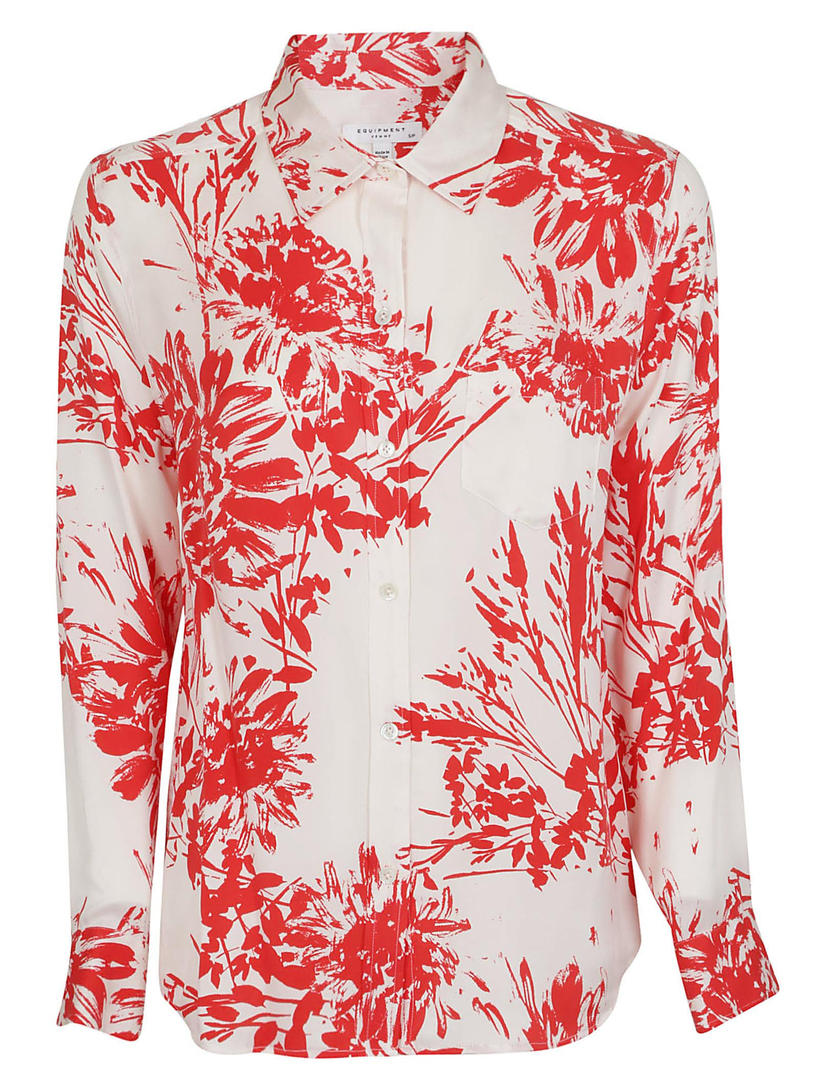 Equipment Tropical Print Shirt