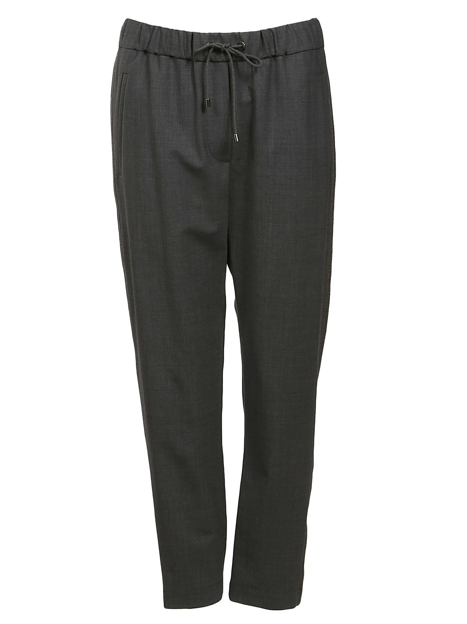 Brunello Cucinelli Drawstrings Cropped Trousers
