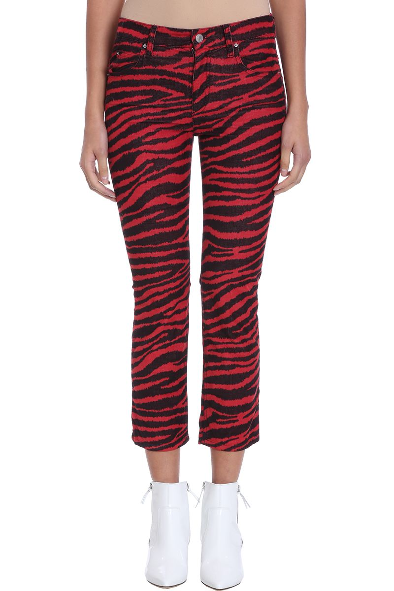 Isabel Marant Étoile Apollo Red Cotton Trousers