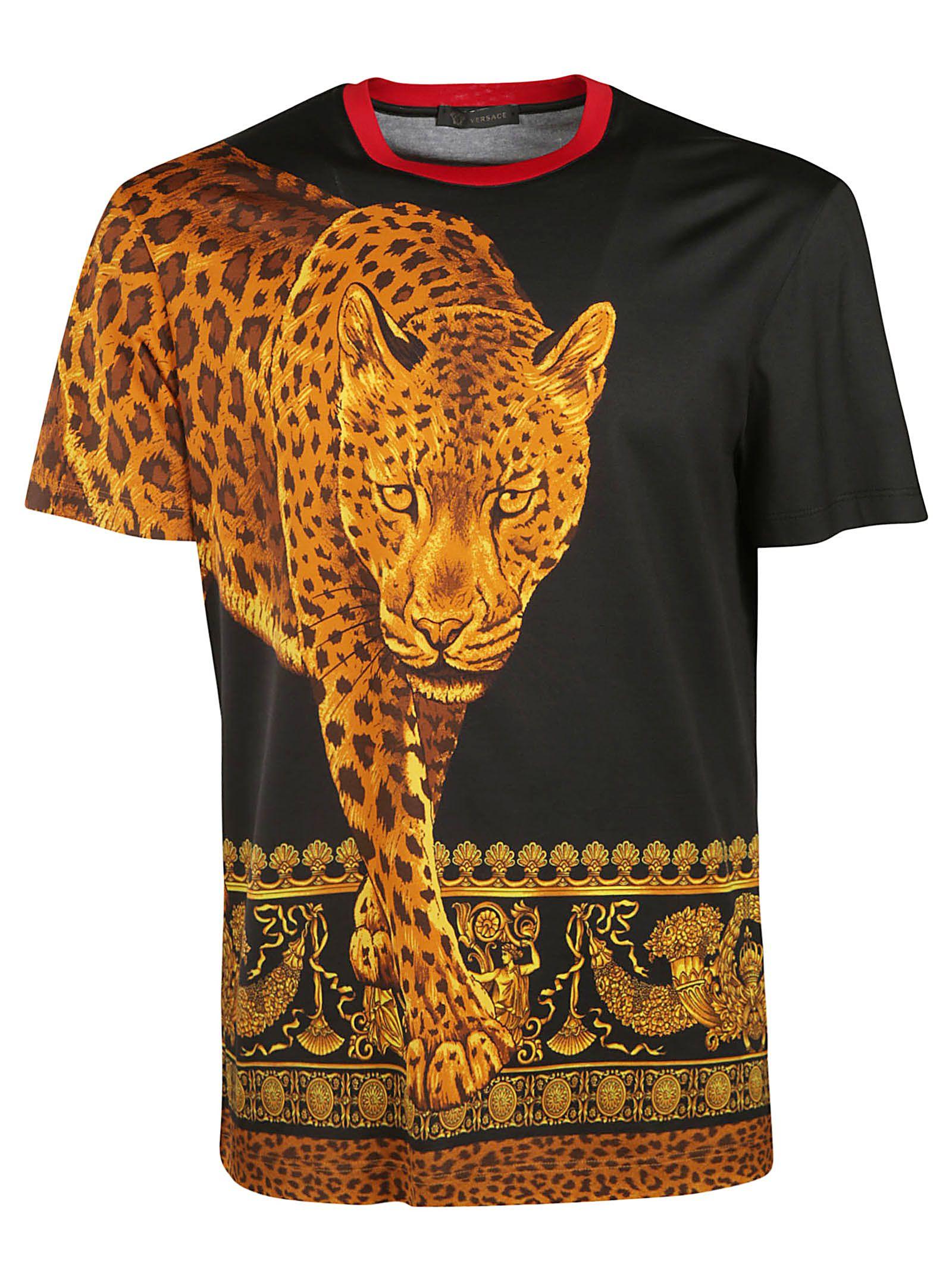 Versace Leopard Animalier Print T-shirt