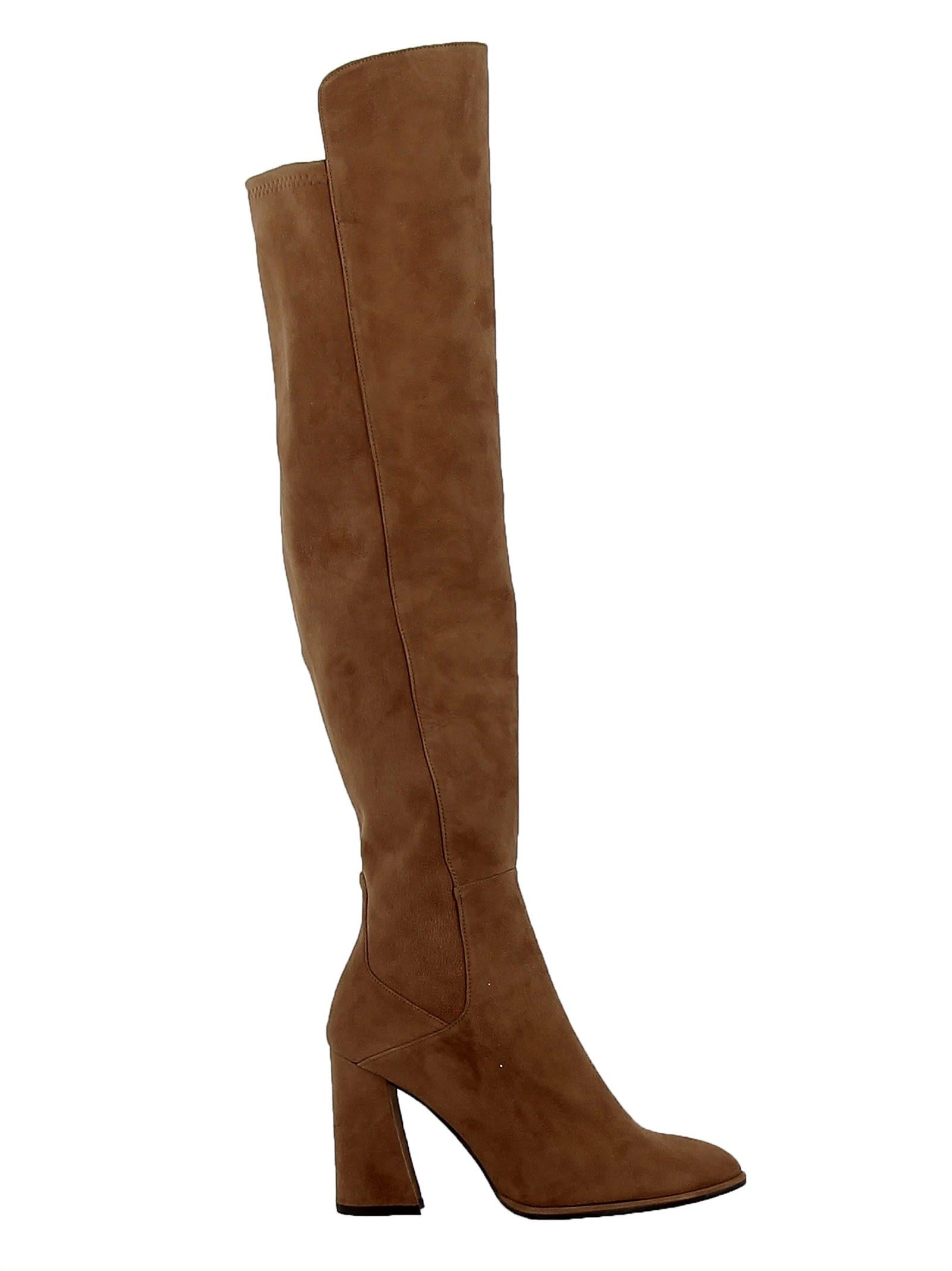 stuart weitzman -  Brown Nut Meg Suede Allhyped Overknee Boots
