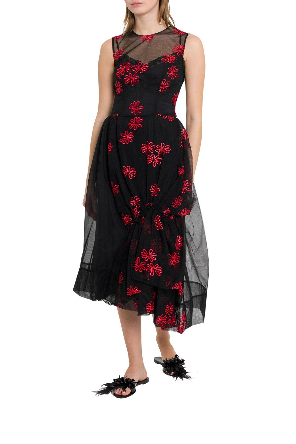 Simone Rocha Dresses FLORAL-EMBROIDERED TULLE DRESS