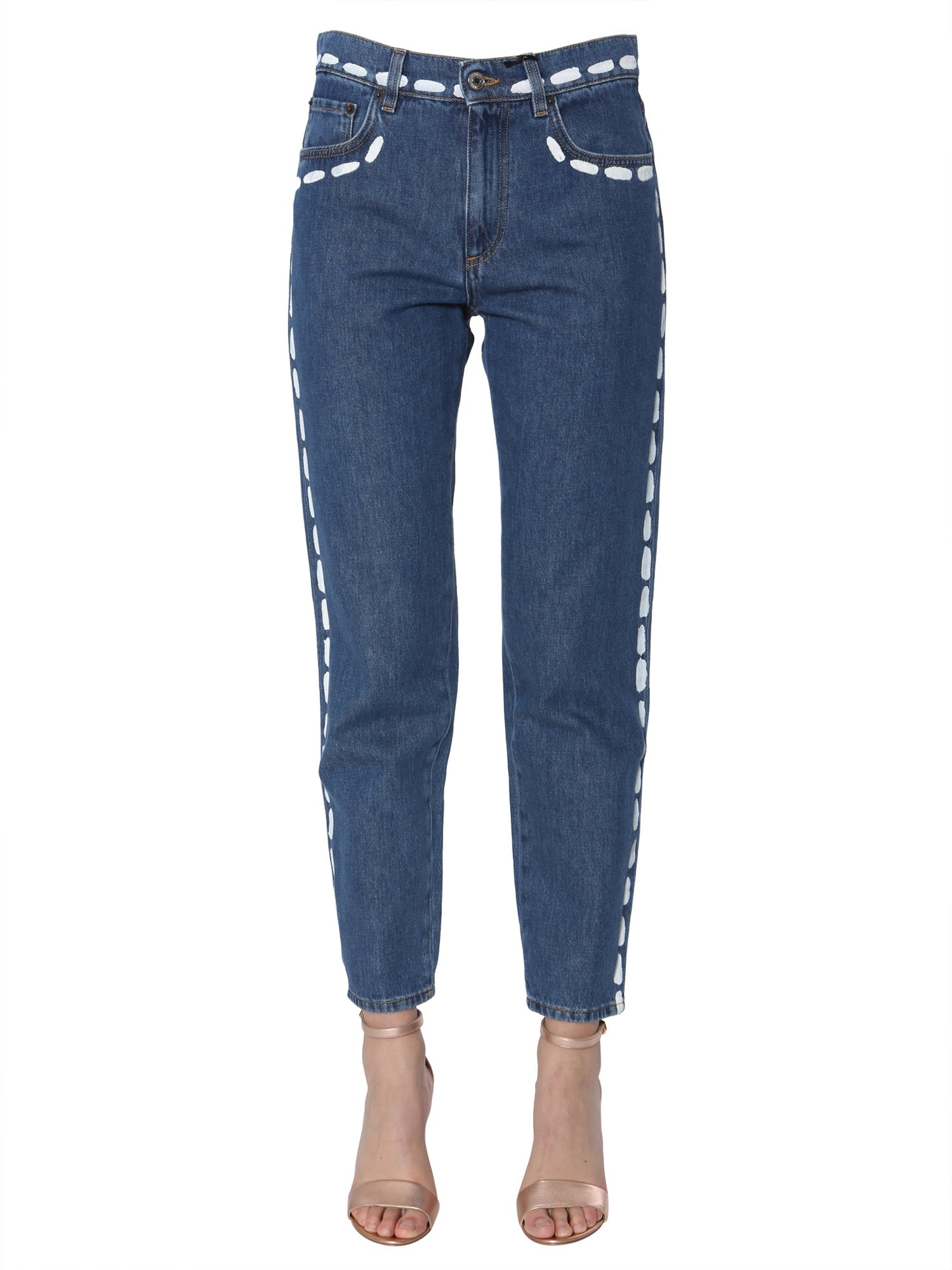 Moschino Jeans With Brushed Stitches