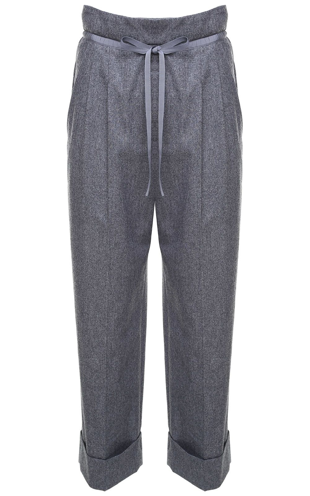 Giorgio Armani Drawstring-waist Wool And Cashmere Blend Trousers
