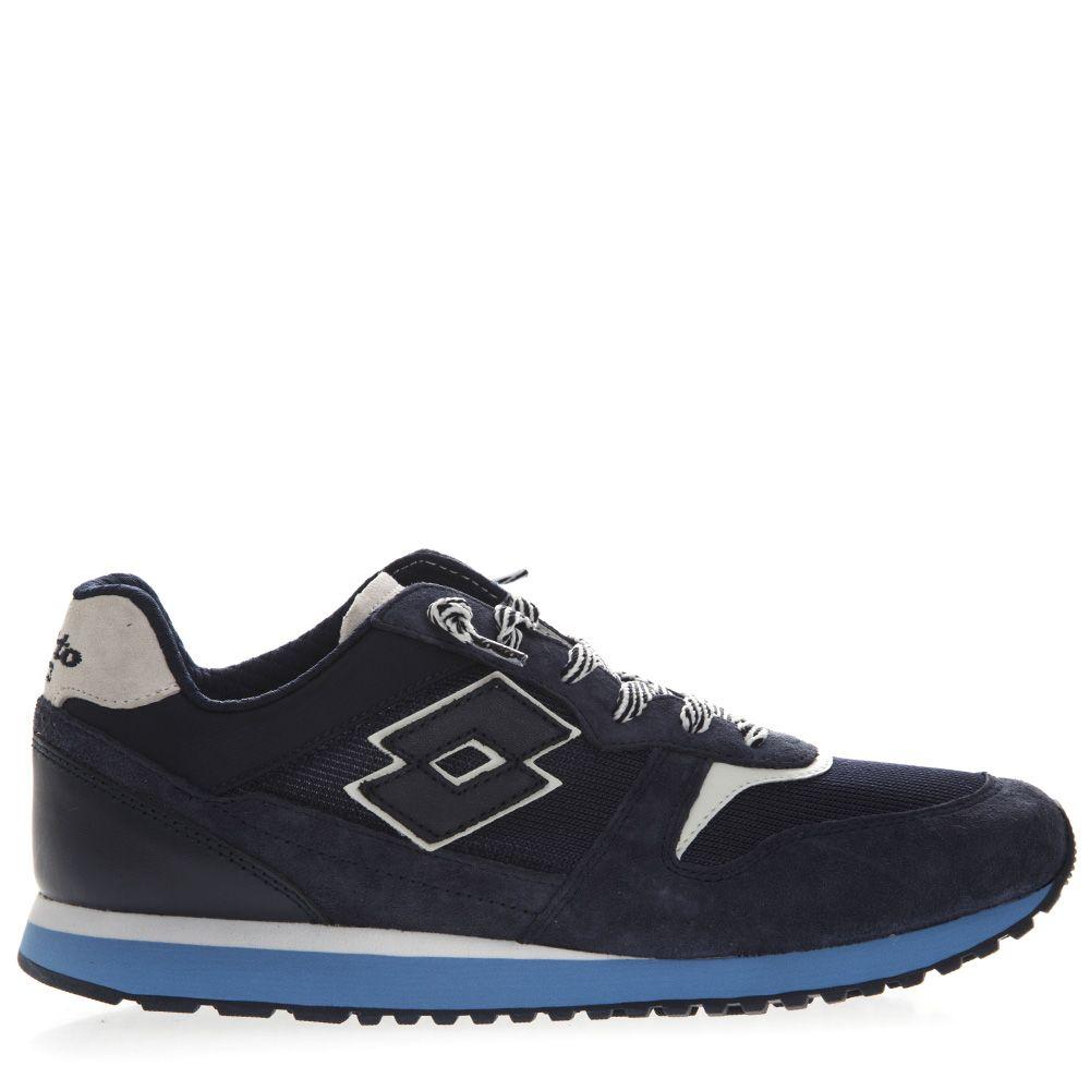 Lotto Leggenda Tokyo Ginza Dark Blue Suede & Nylon Sneaker