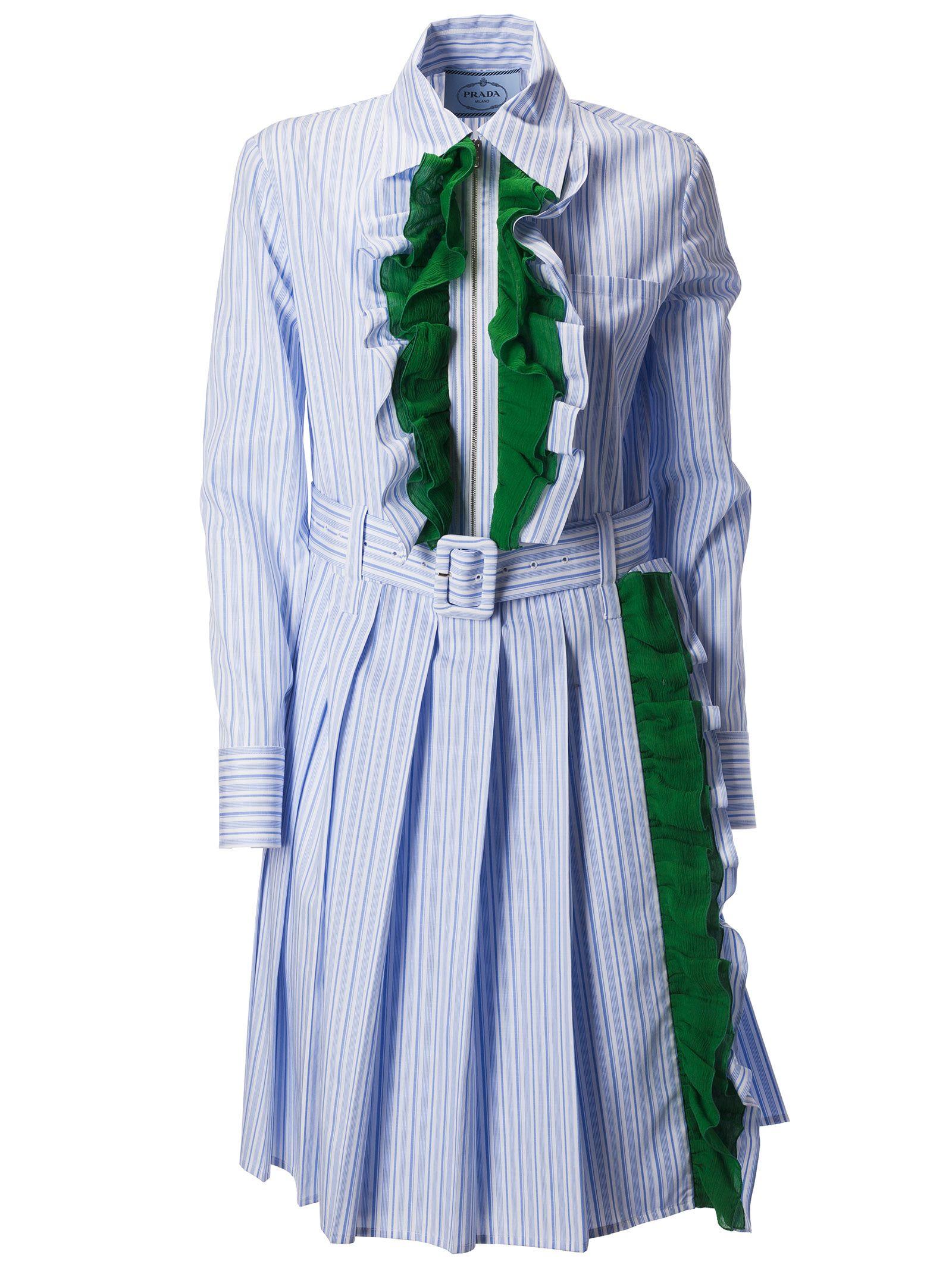 Prada Ruffle Trim Dress