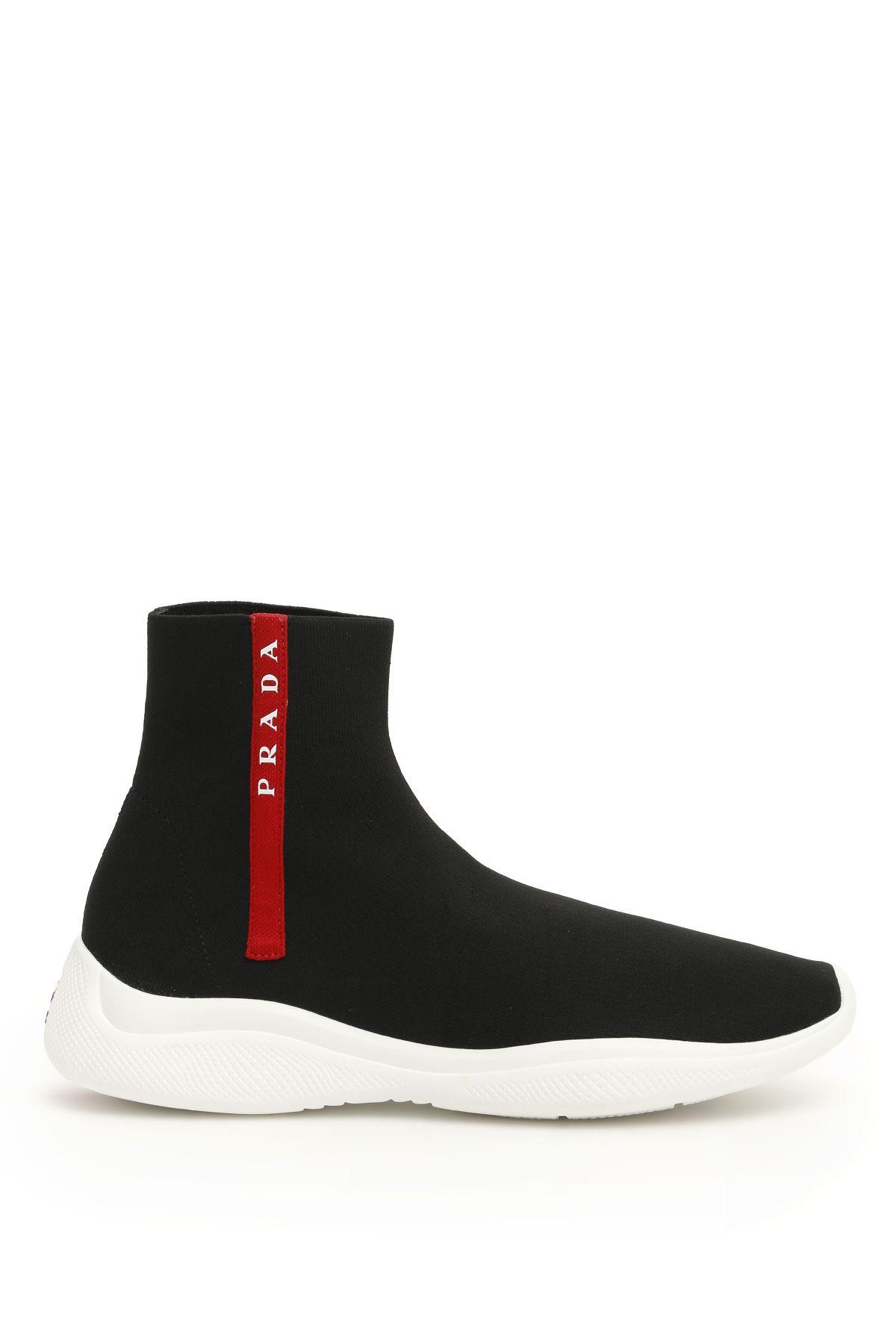 Prada America's Cup Logo Sock Sneakers