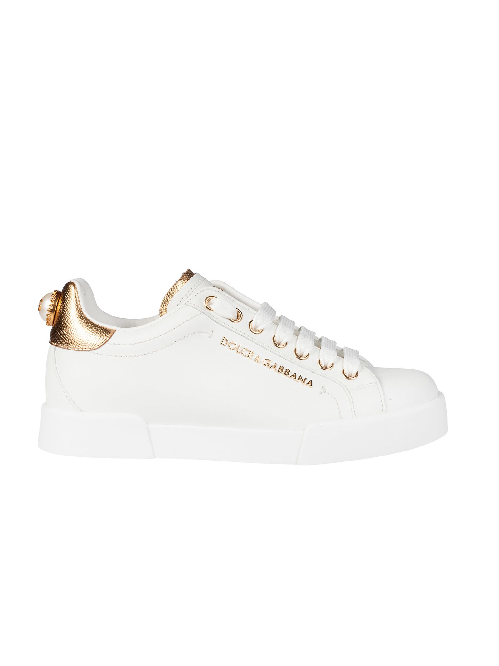 Dolce & Gabbana Pearl Embellished Sneakers