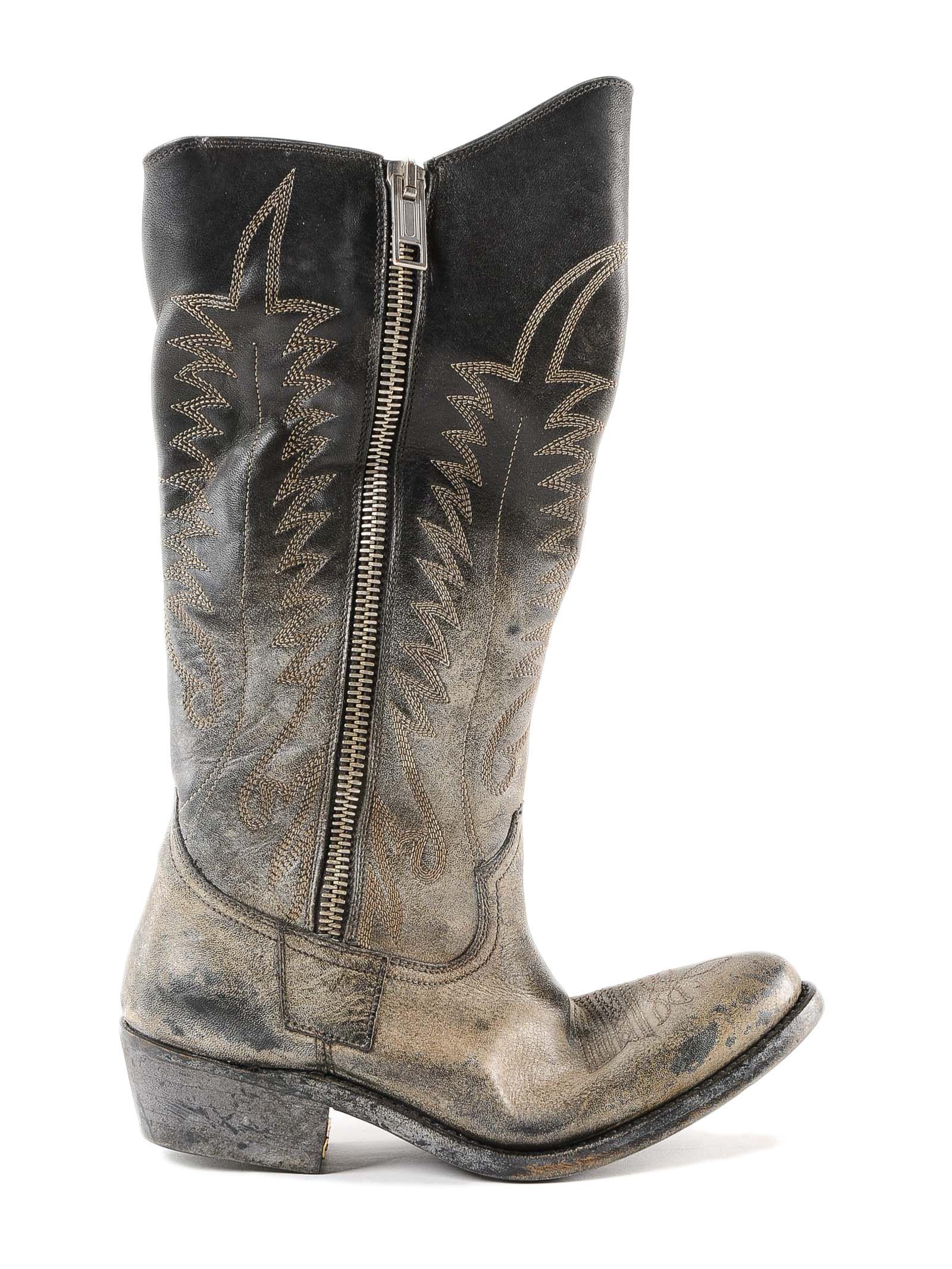 Boots Golden Zip