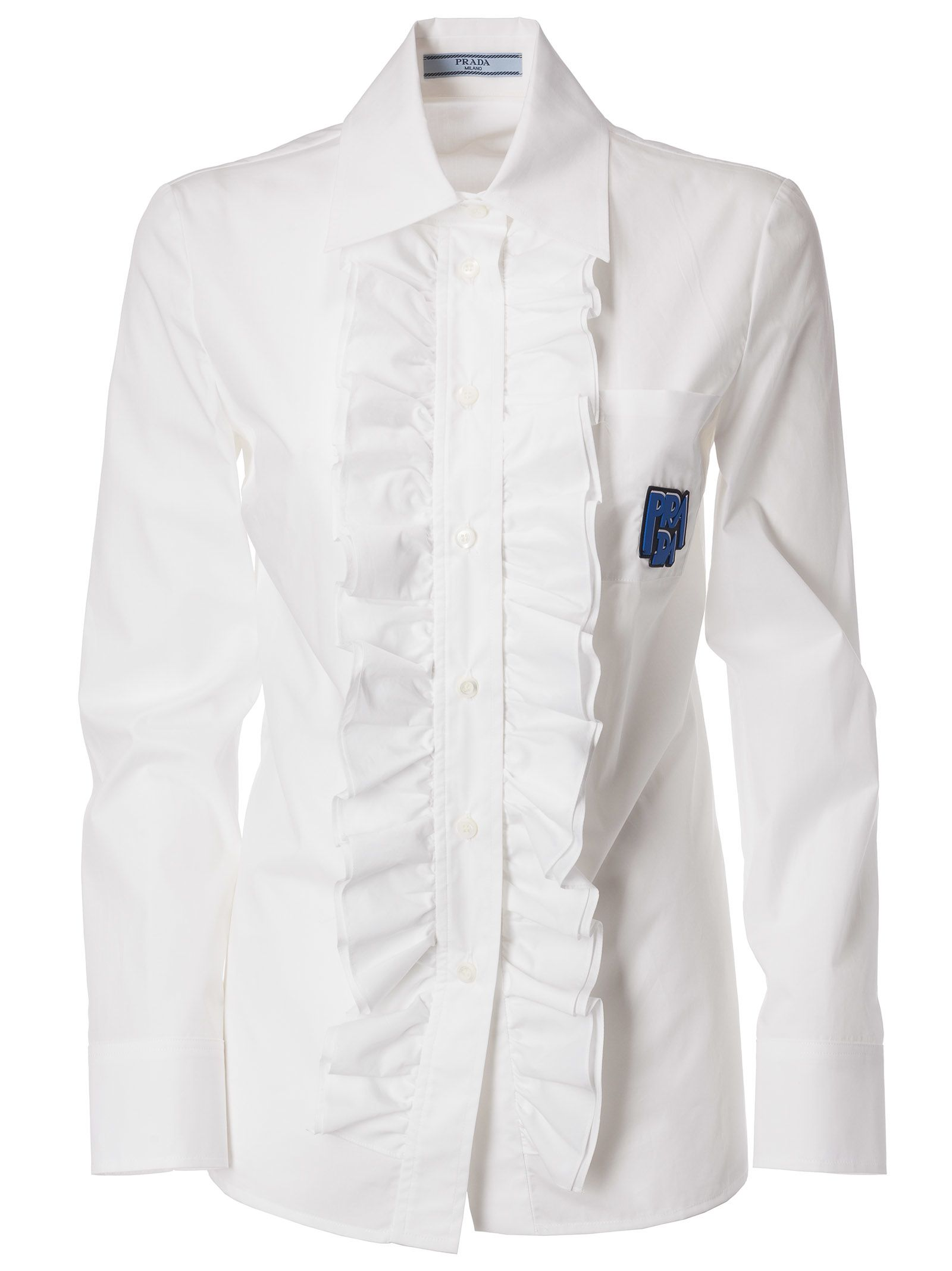 Prada Ruched Detail Shirt