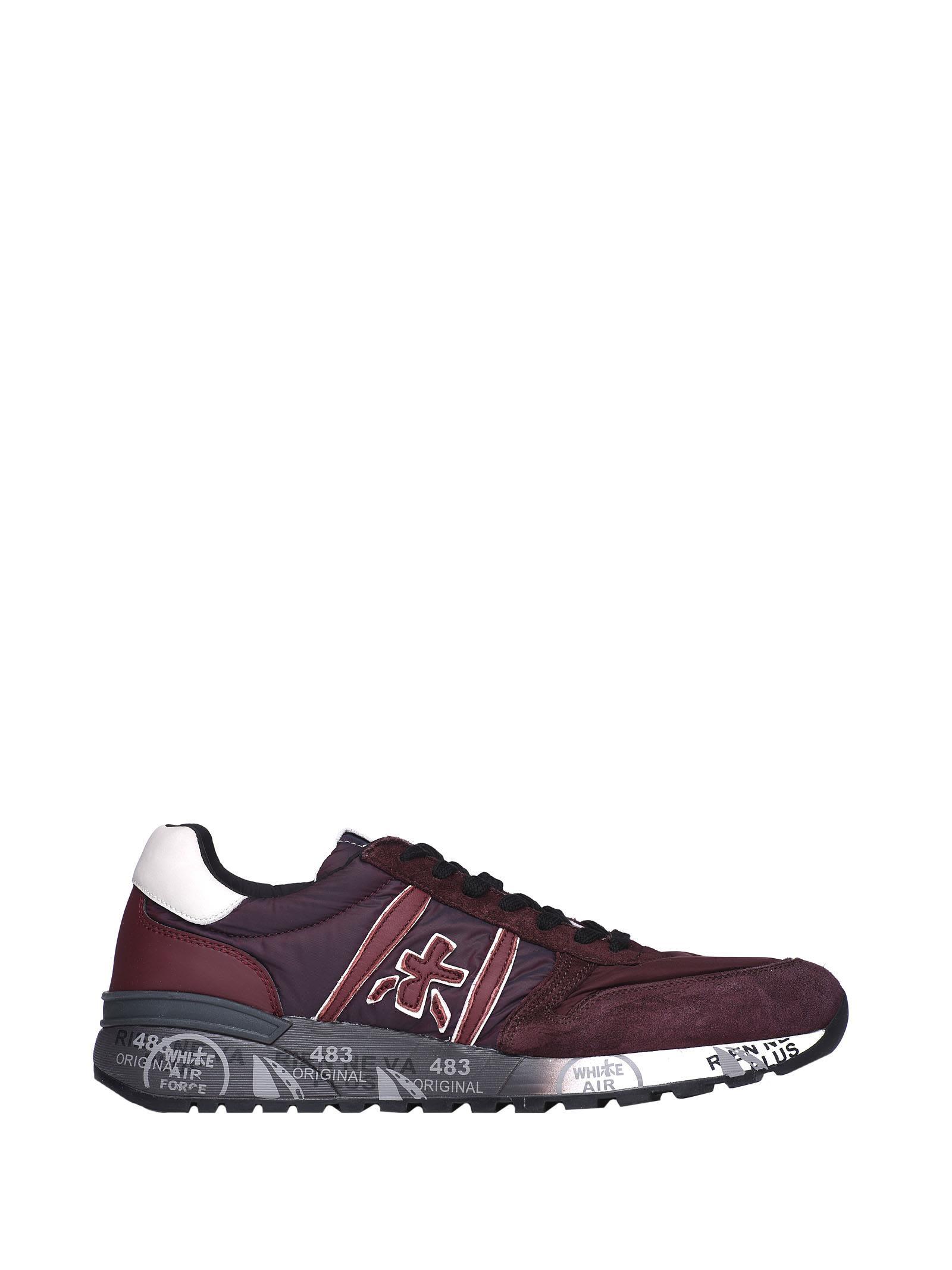 Premiata Lander 3246 Red Sneakers