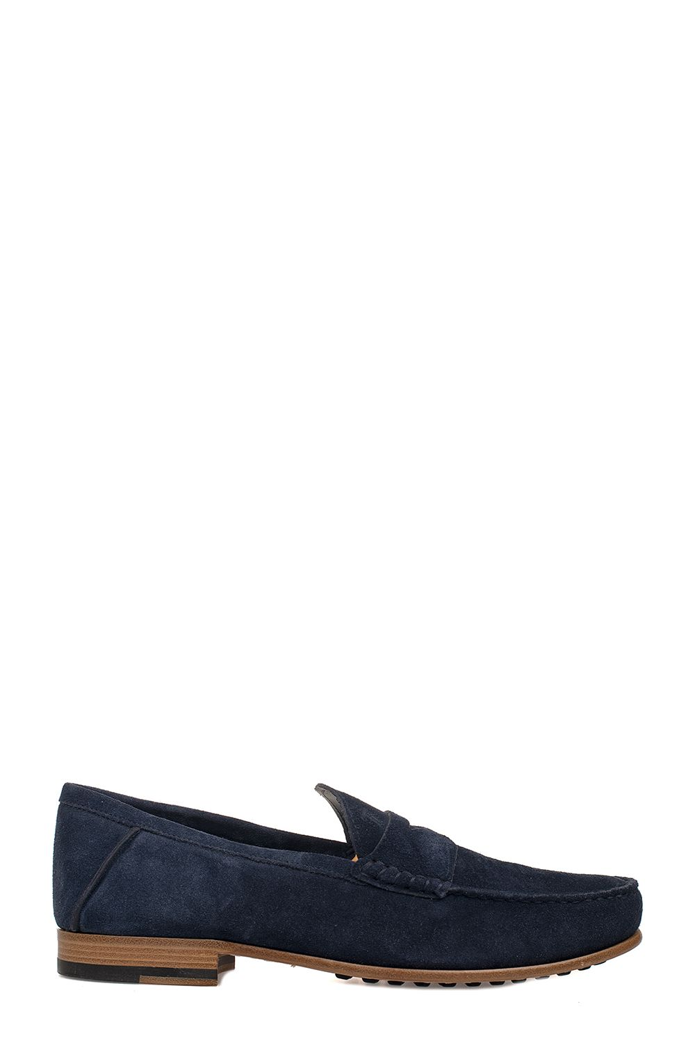 Tod's Blue Suede Loafer