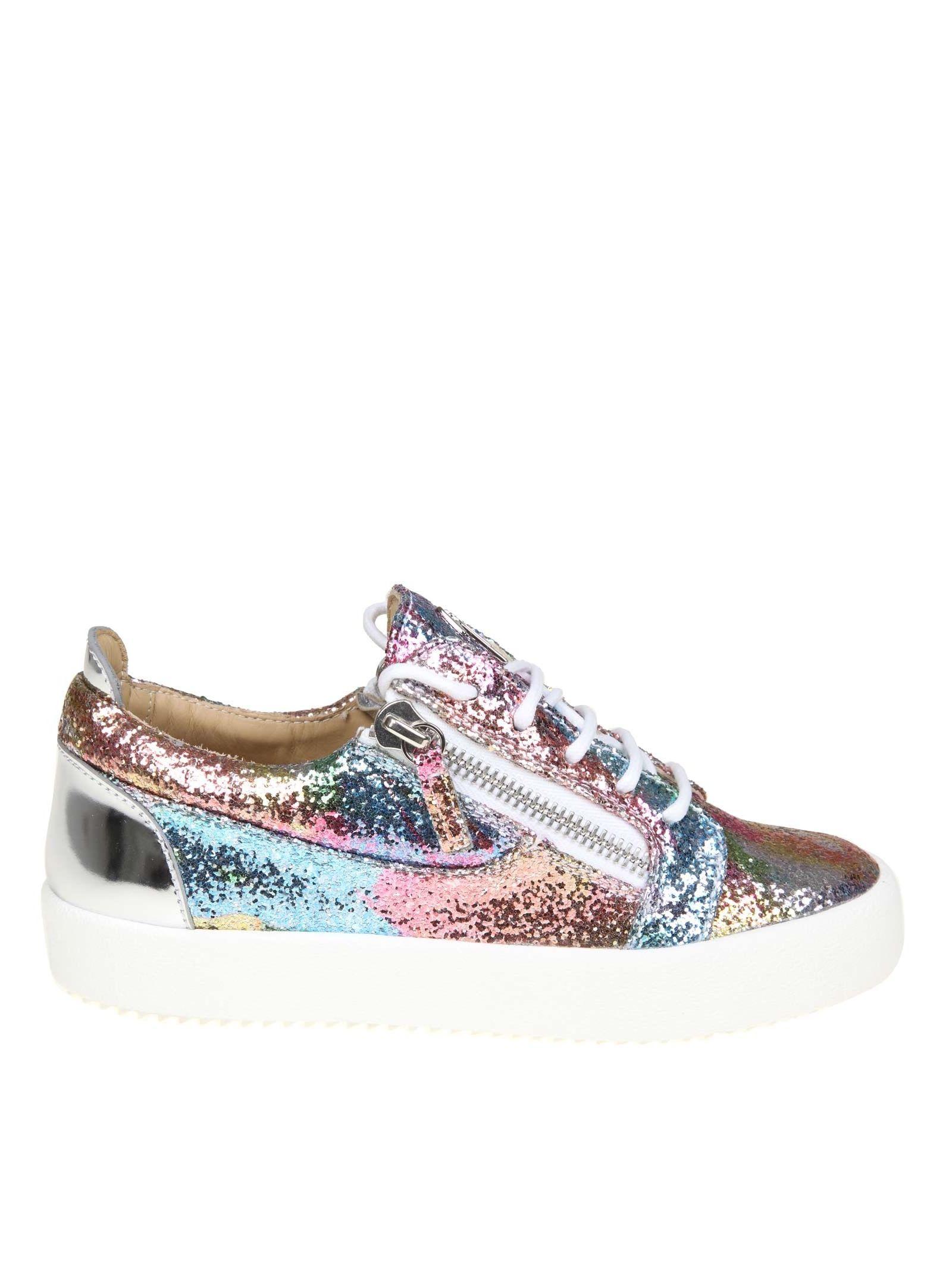 Sneakers Giuseppe Zanotti Fabric Glittery Multicolor
