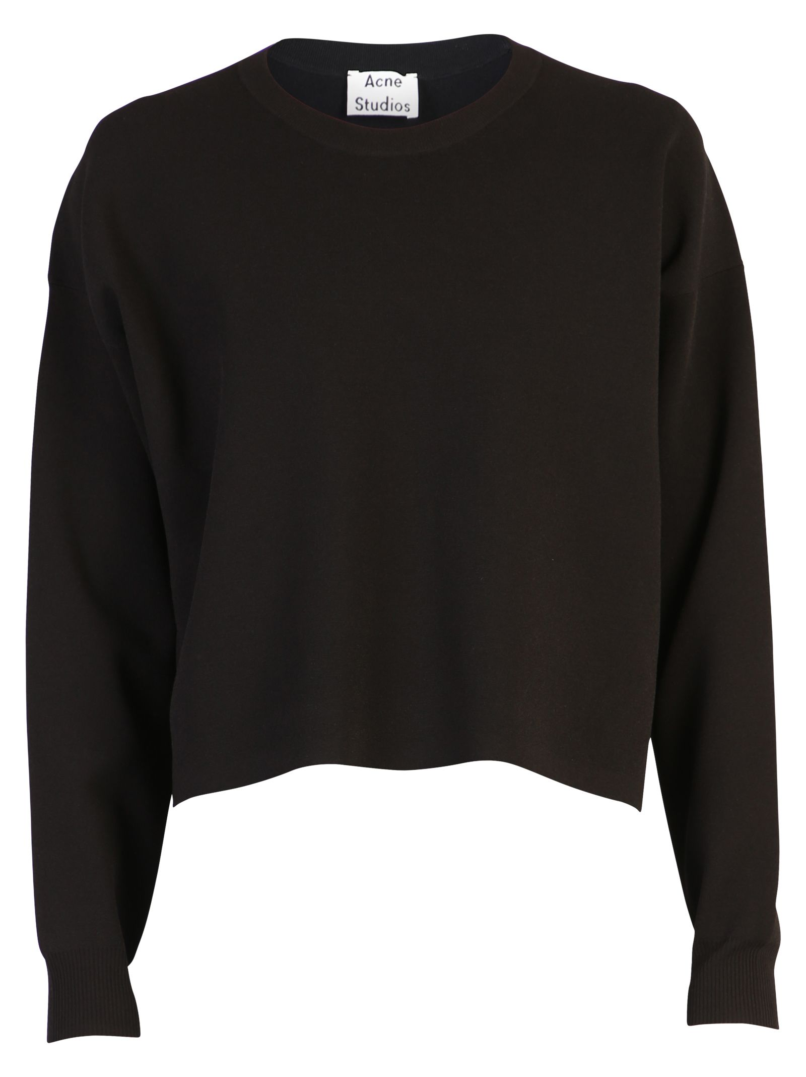 Acne Studios Black Cropped Sweater
