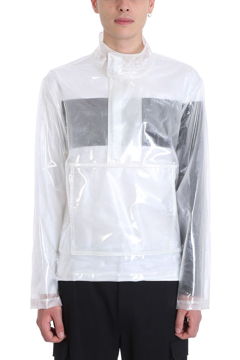 helmut lang -  Clear Popover Transparent Pvc Jacket