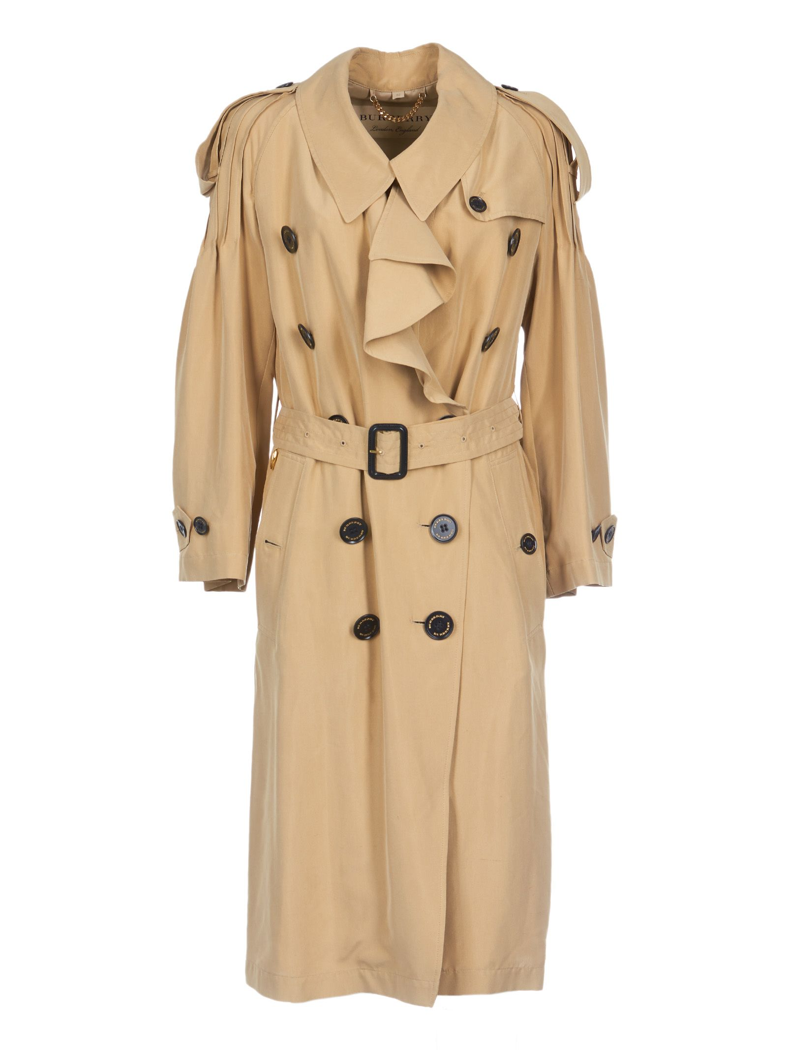 burberry -  Pleated Long Trench