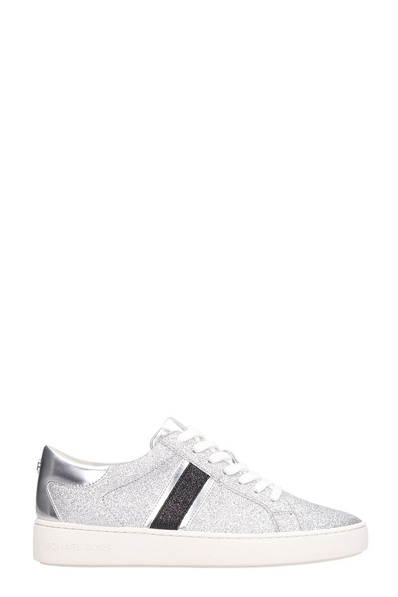 Michael Kors Keaton Silver Leather Sneakers