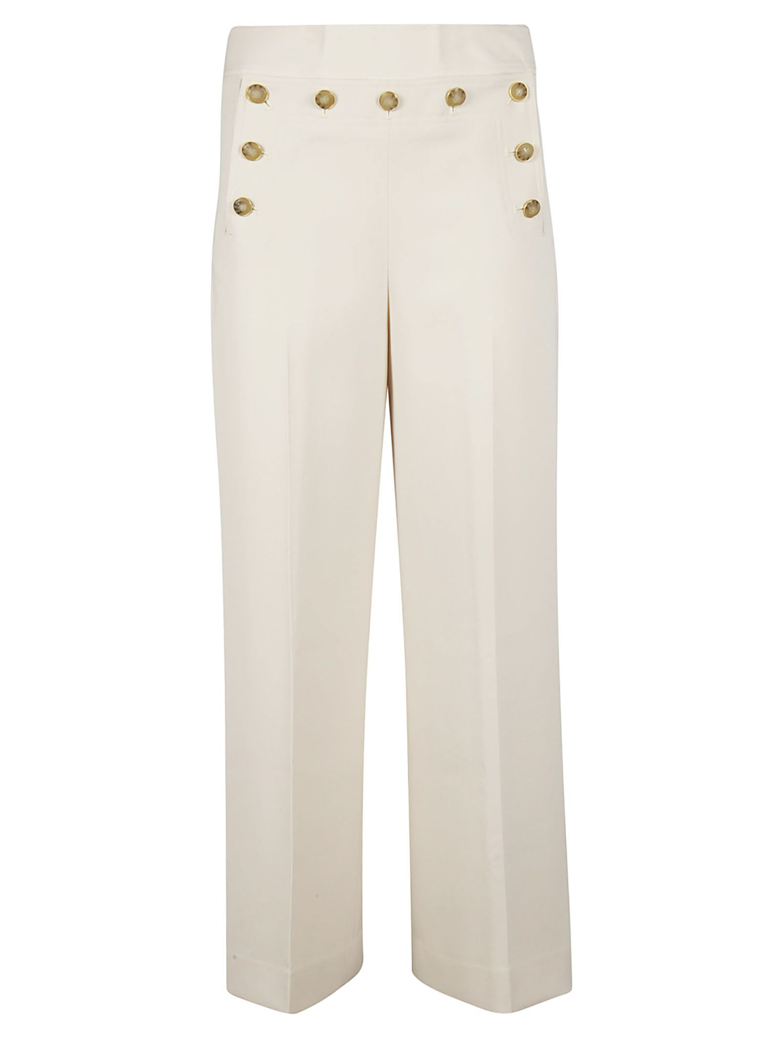 Tory Burch Button Embellished Trousers