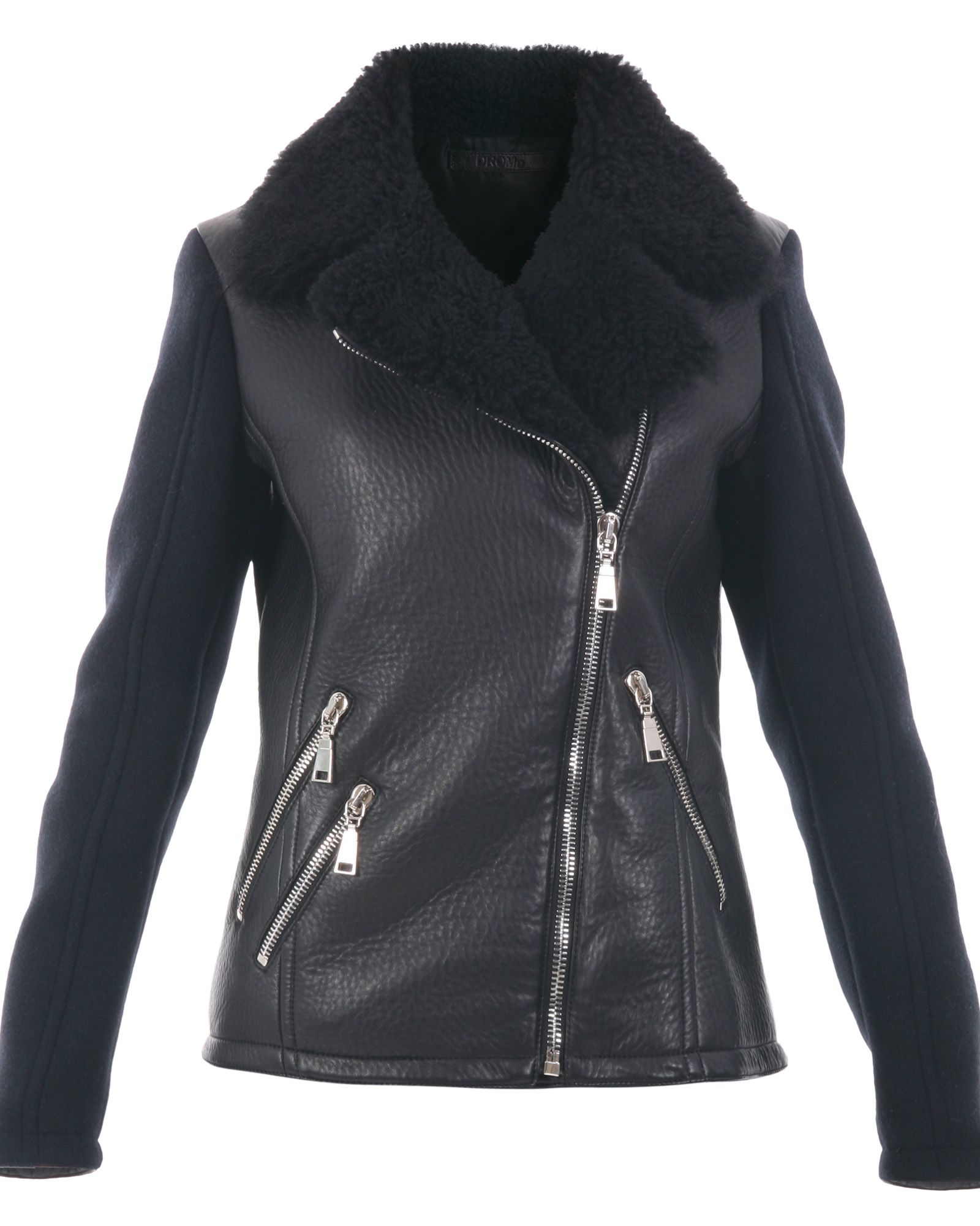 DROMe Leather And Wool Blend Jacket