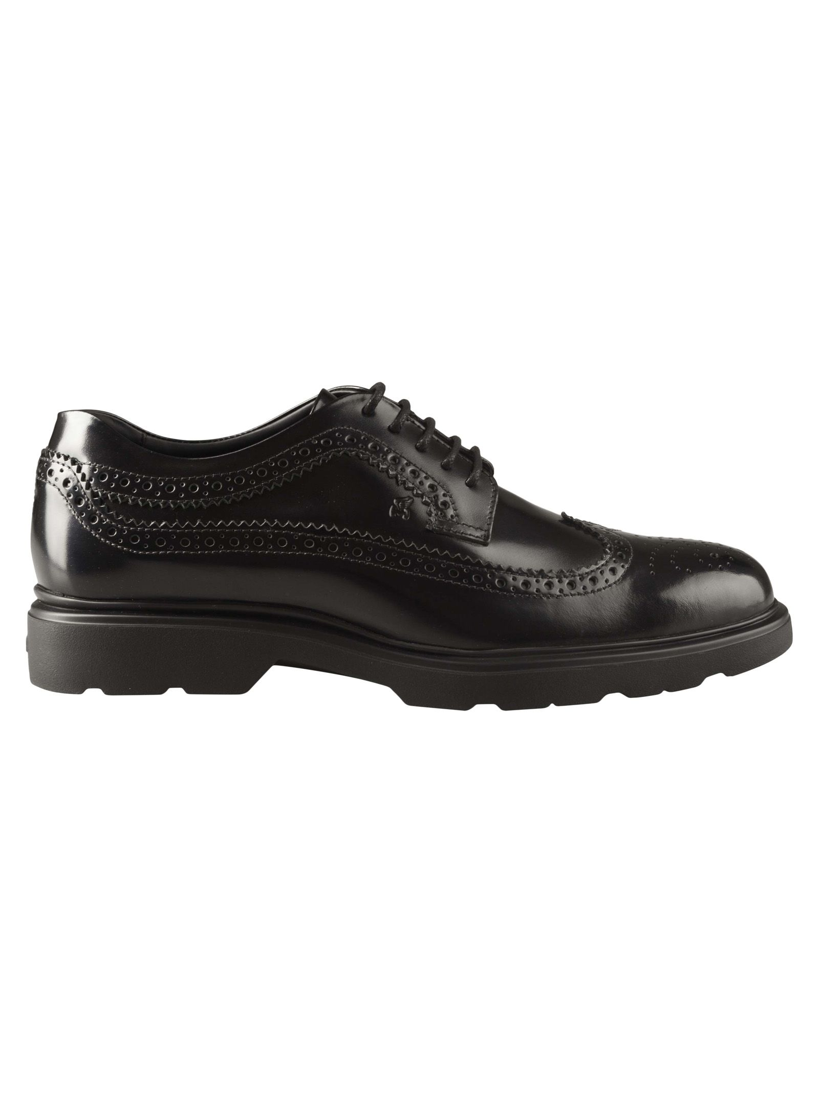 Hogan Perforated Lace Up Shoes