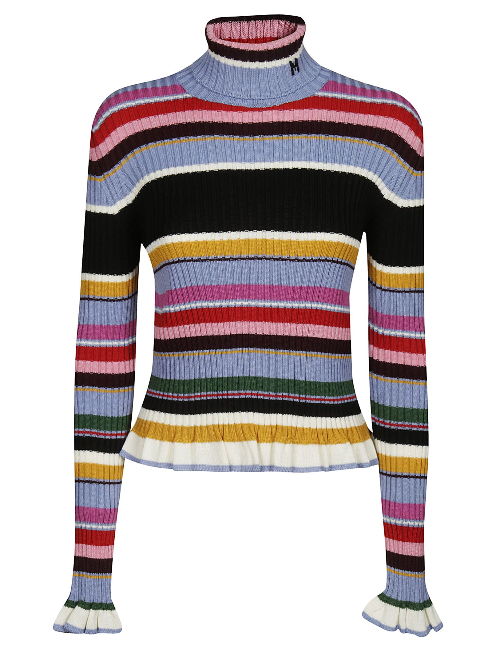 Msgm Ruffled Rolled Neck Sweater